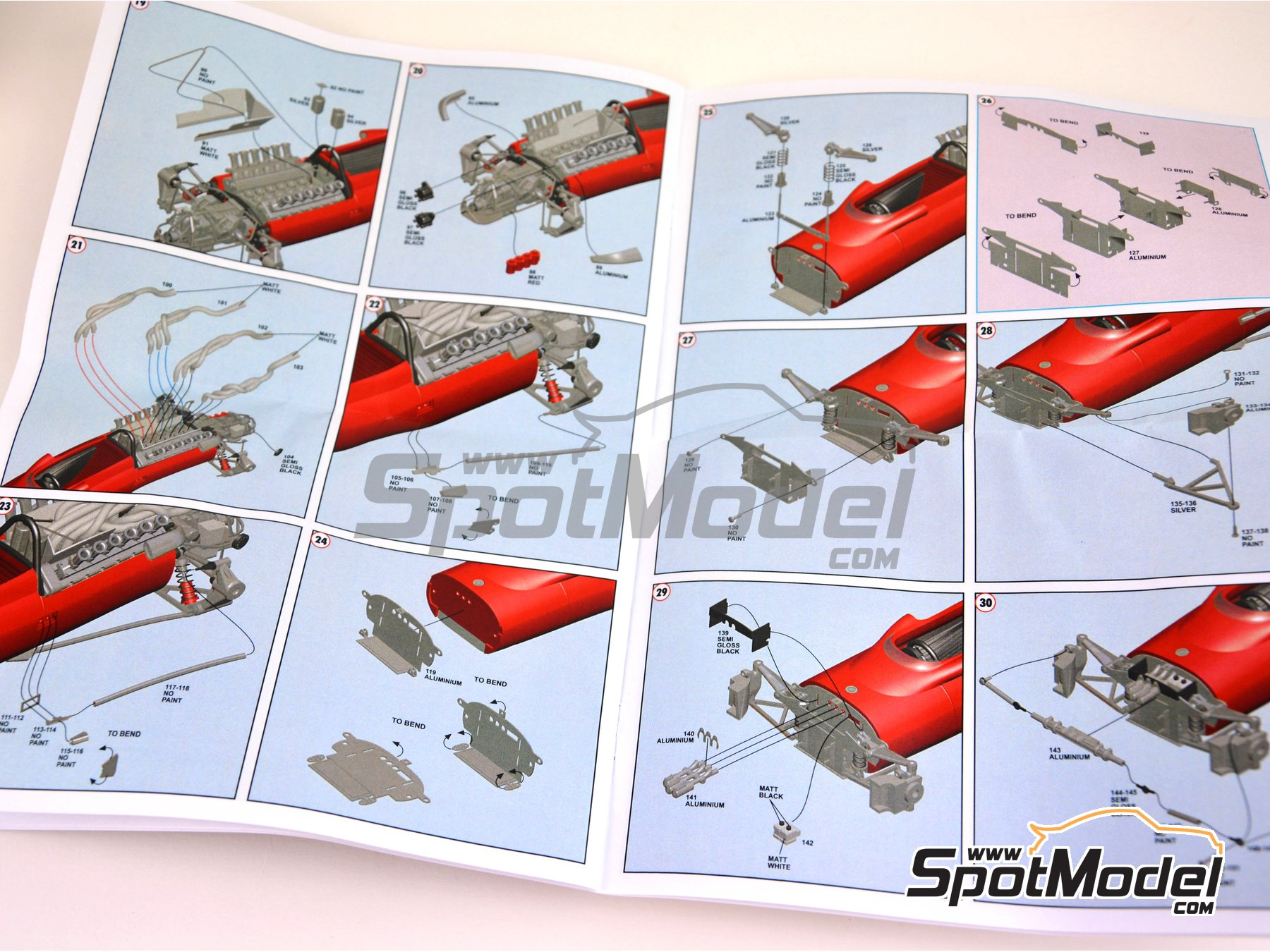 Image 9: Ferrari F1-67 - Monaco Grand Prix 1967 | Model car kit in 1/43 scale manufactured by Tameo Kits (ref. TMK419)