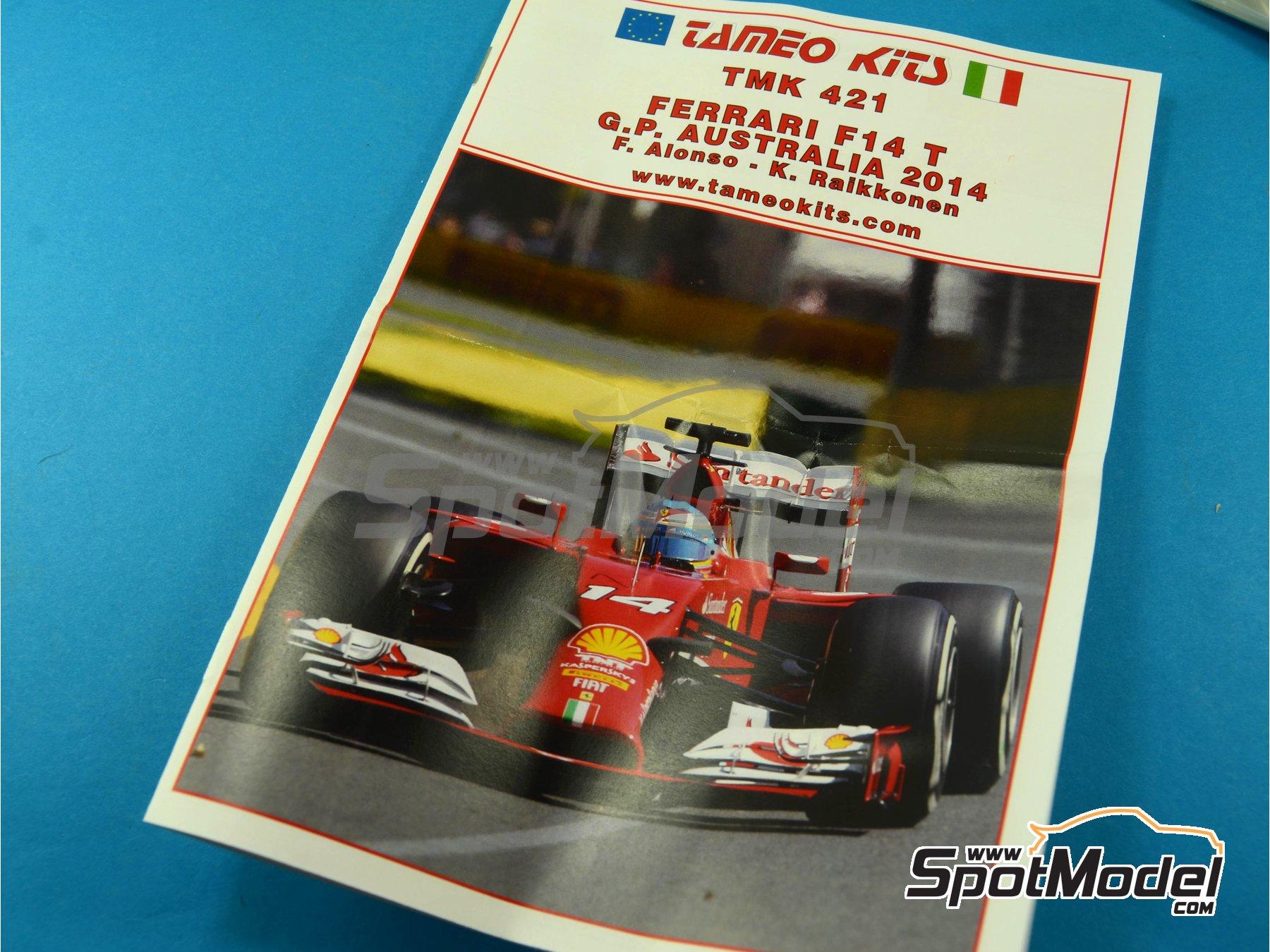 Image 1: Ferrari F14 T Banco Santander - Australian Formula 1 Grand Prix 2014 | Model car kit in 1/43 scale manufactured by Tameo Kits (ref.TMK421)