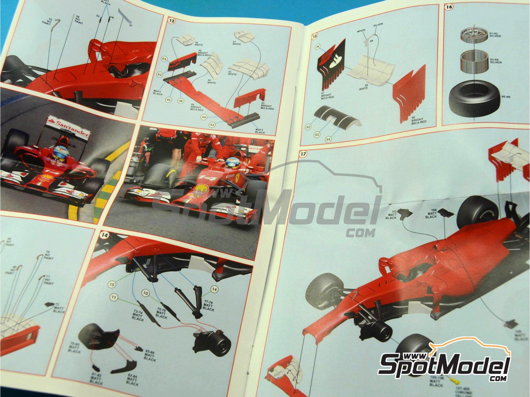 Image 3: Ferrari F14 T Banco Santander - Australian Formula 1 Grand Prix 2014 | Model car kit in 1/43 scale manufactured by Tameo Kits (ref.TMK421)