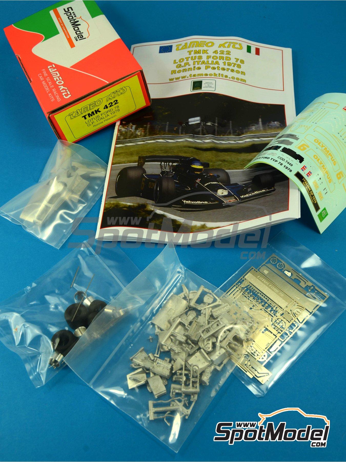 Lotus Ford Type 78 John Player Special - Italian Formula 1 Grand Prix 1978 | Model car kit in 1/43 scale manufactured by Tameo Kits (ref.TMK422) image
