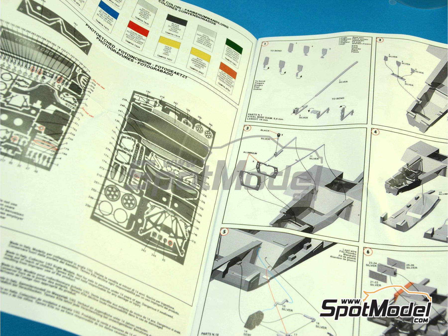 Image 2: Lotus Ford Type 78 John Player Special - Italian Formula 1 Grand Prix 1978 | Model car kit in 1/43 scale manufactured by Tameo Kits (ref.TMK422)