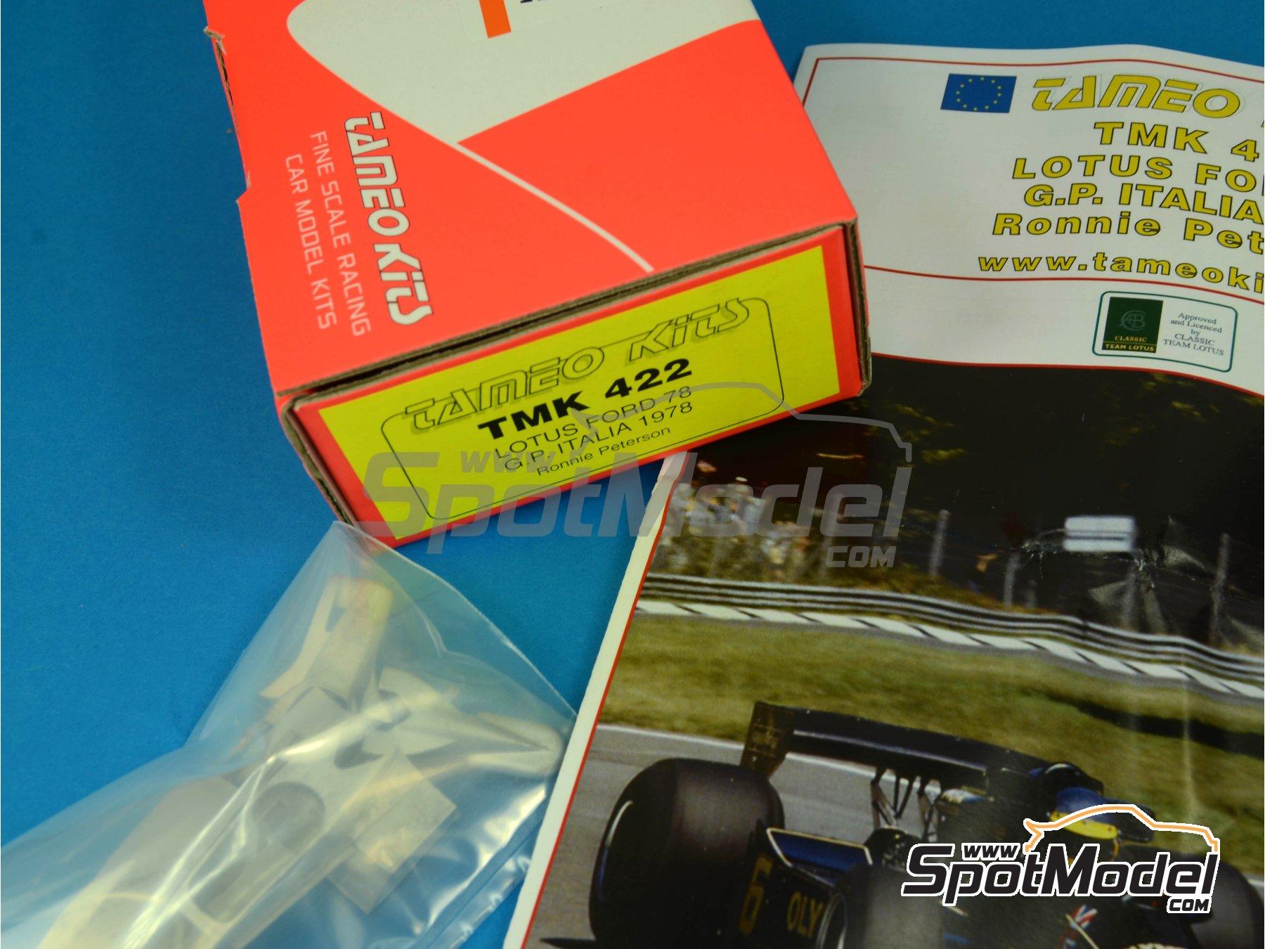 Image 8: Lotus Ford Type 78 John Player Special - Italian Formula 1 Grand Prix 1978 | Model car kit in 1/43 scale manufactured by Tameo Kits (ref.TMK422)