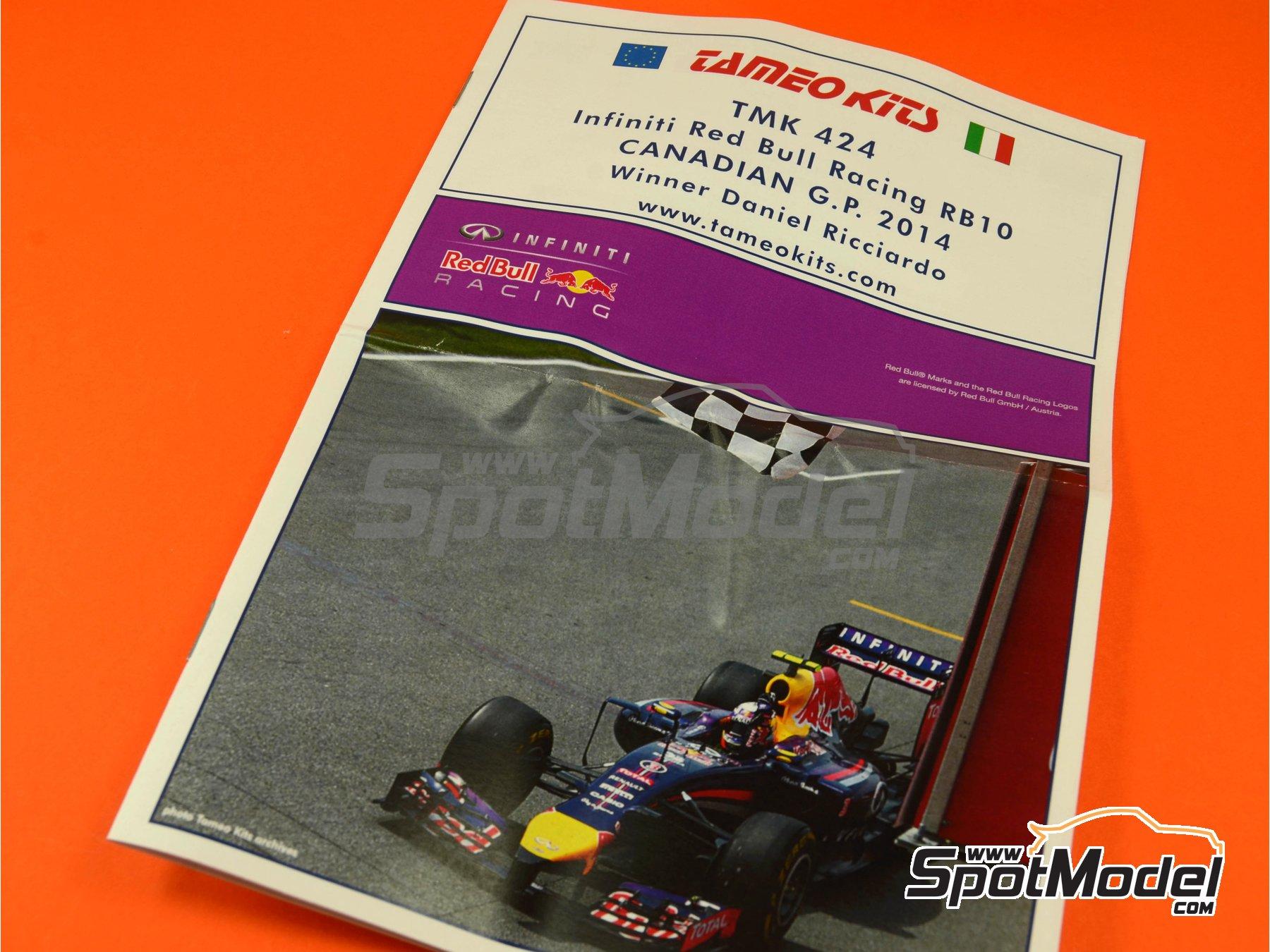 Image 1: RB10 Infiniti - Canadian Formula 1 Grand Prix 2014 | Model car kit in 1/43 scale manufactured by Tameo Kits (ref.TMK424)