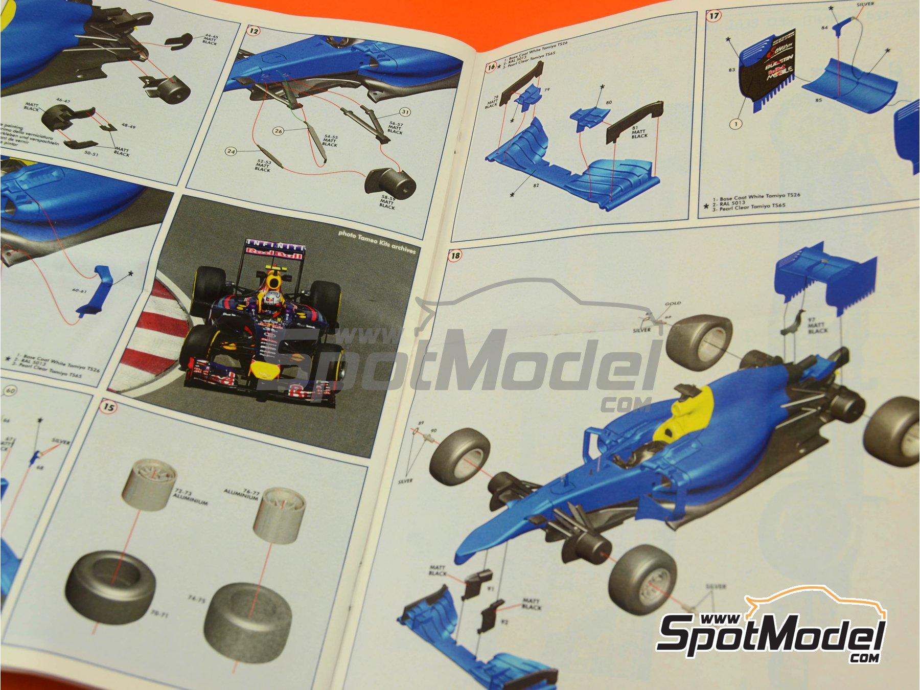 Image 3: RB10 Infiniti - Canadian Formula 1 Grand Prix 2014 | Model car kit in 1/43 scale manufactured by Tameo Kits (ref.TMK424)