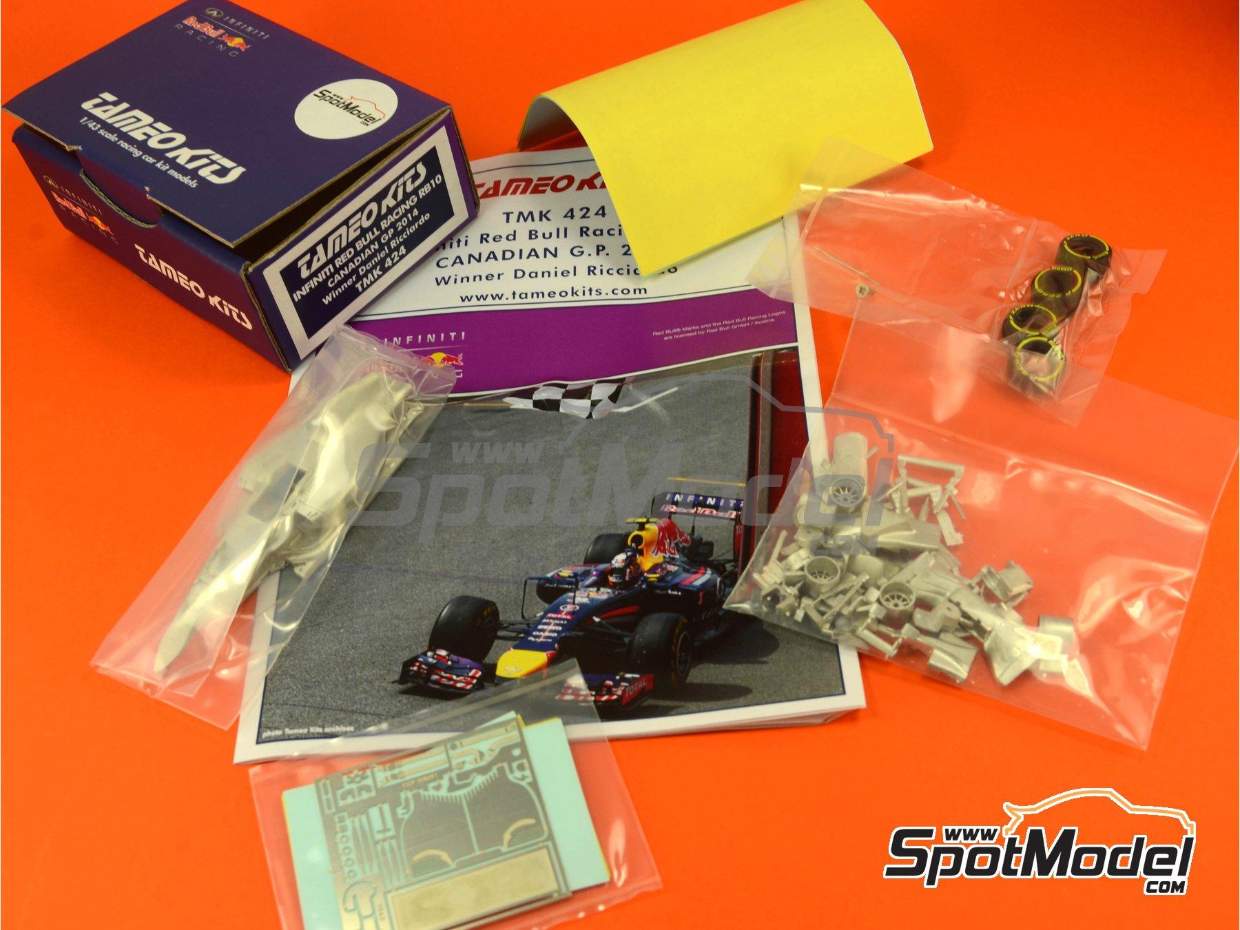 Image 8: RB10 Infiniti - Canadian Formula 1 Grand Prix 2014 | Model car kit in 1/43 scale manufactured by Tameo Kits (ref.TMK424)