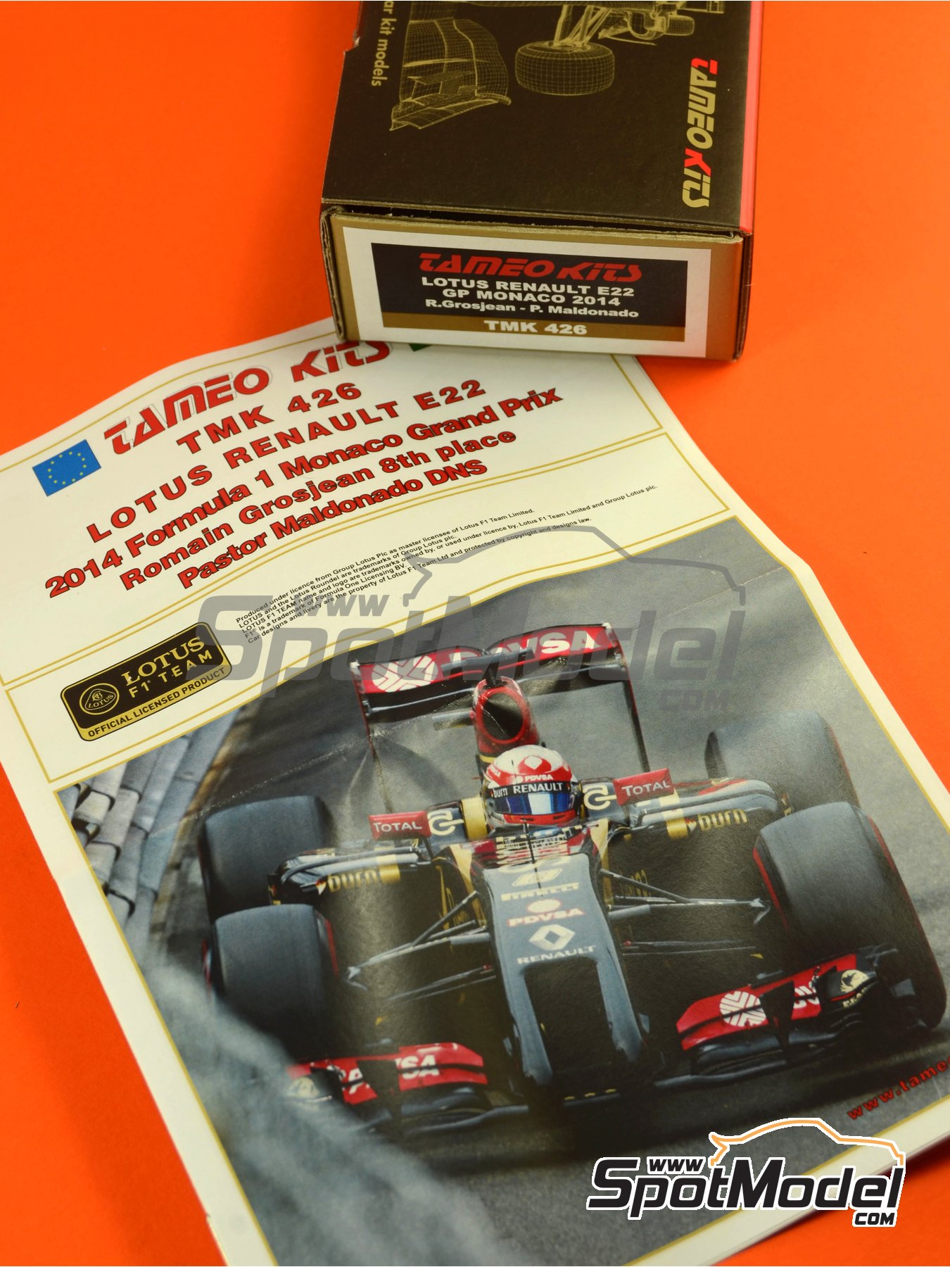 Lotus Renault E22 Rexona - Monaco Formula 1 Grand Prix 2014 | Model car kit in 1/43 scale manufactured by Tameo Kits (ref.TMK426) image