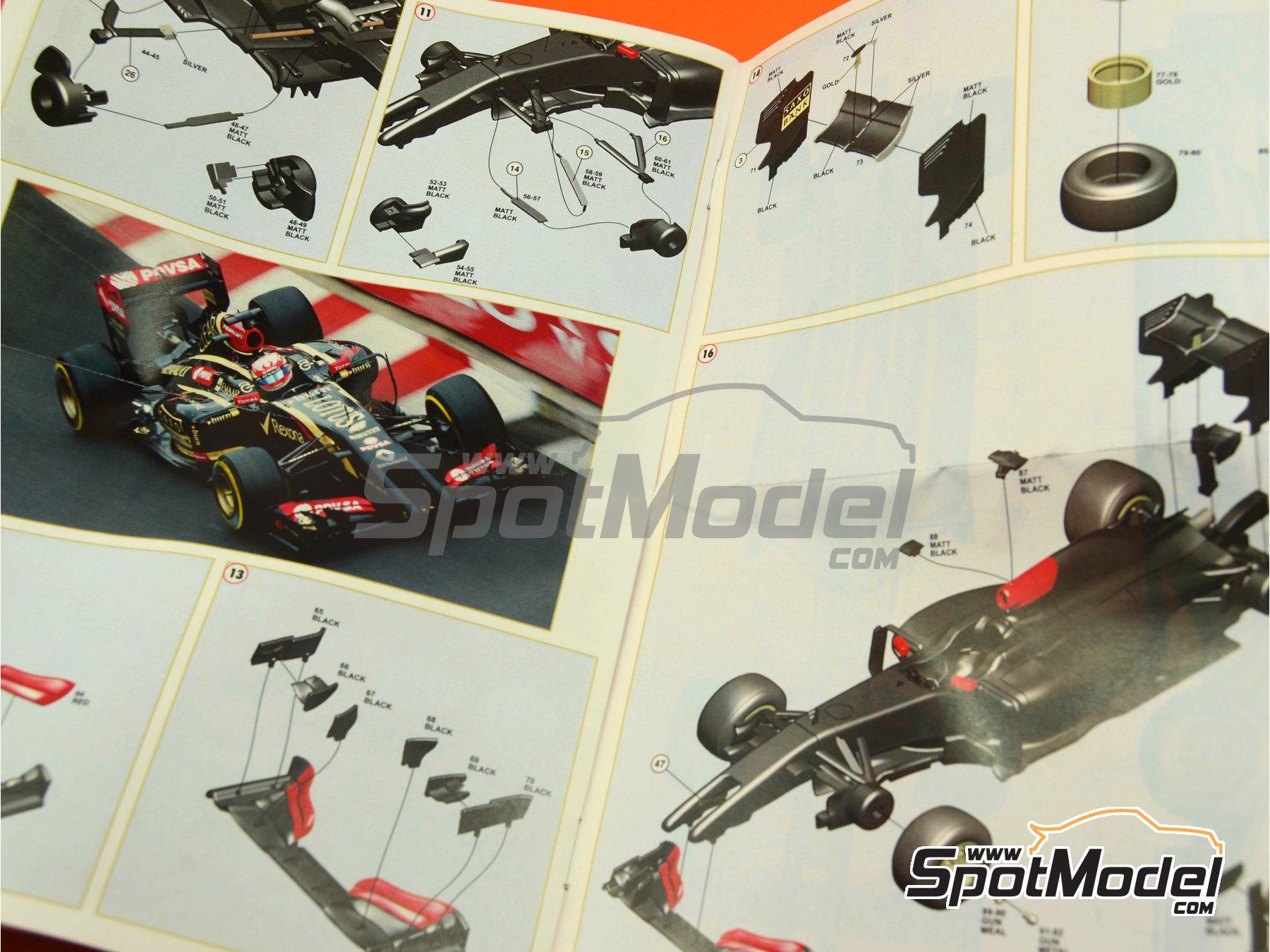 Image 5: Lotus Renault E22 Rexona - Monaco Formula 1 Grand Prix 2014 | Model car kit in 1/43 scale manufactured by Tameo Kits (ref.TMK426)