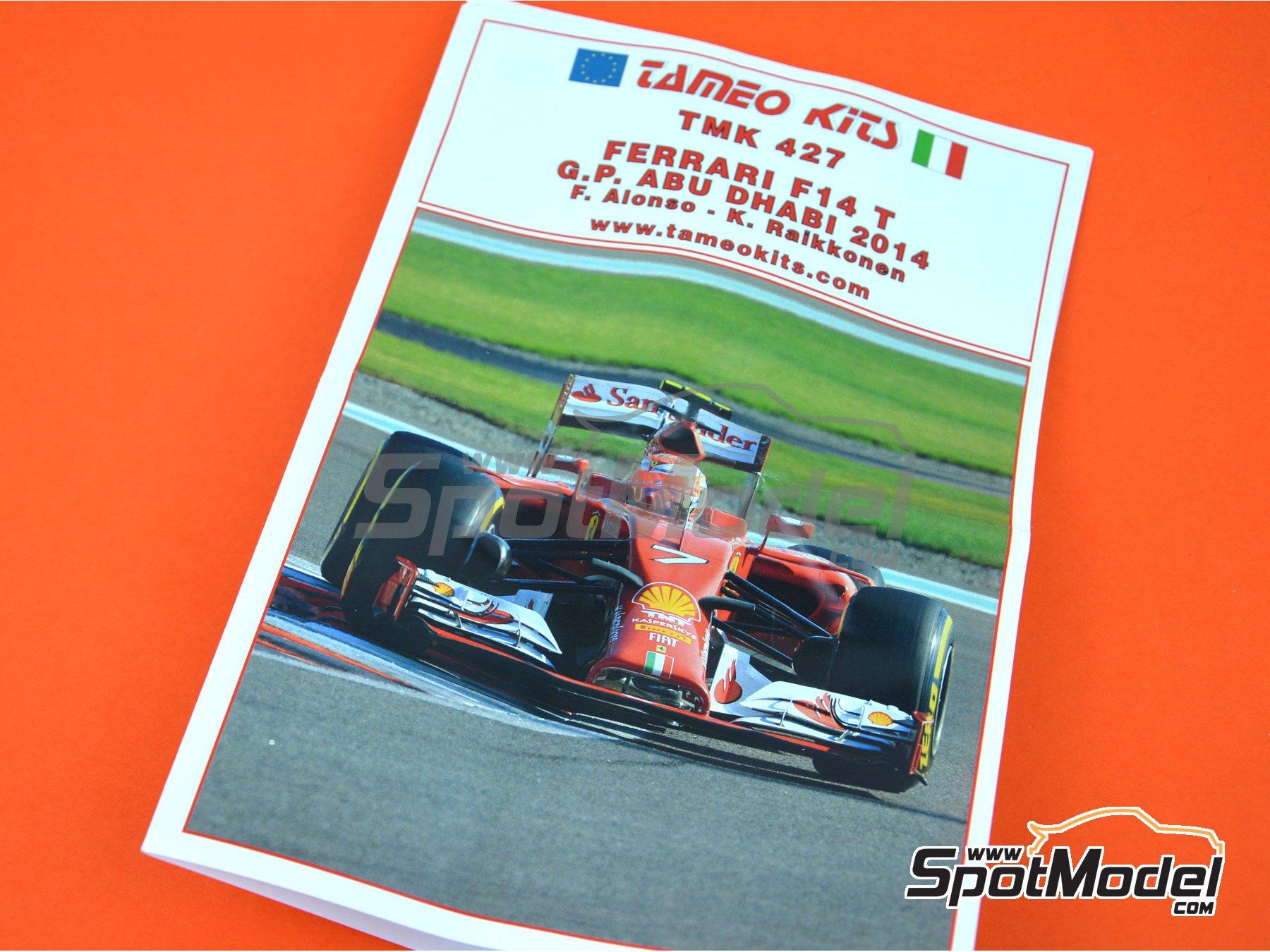 Image 8: Ferrari F14 Banco Santander - Abu Dhabi Grand Prix 2014 | Model car kit in 1/43 scale manufactured by Tameo Kits (ref.TMK427)