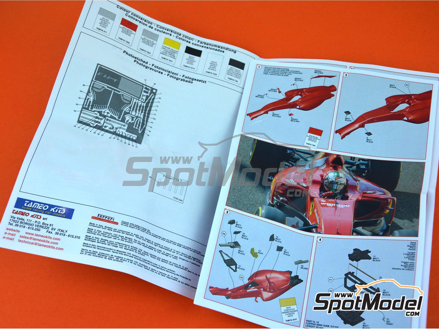 Image 9: Ferrari F14 - Gran Premio de Abu Dhabi 2014 | Maqueta de coche en escala1/43 fabricado por Tameo Kits (ref.TMK427)