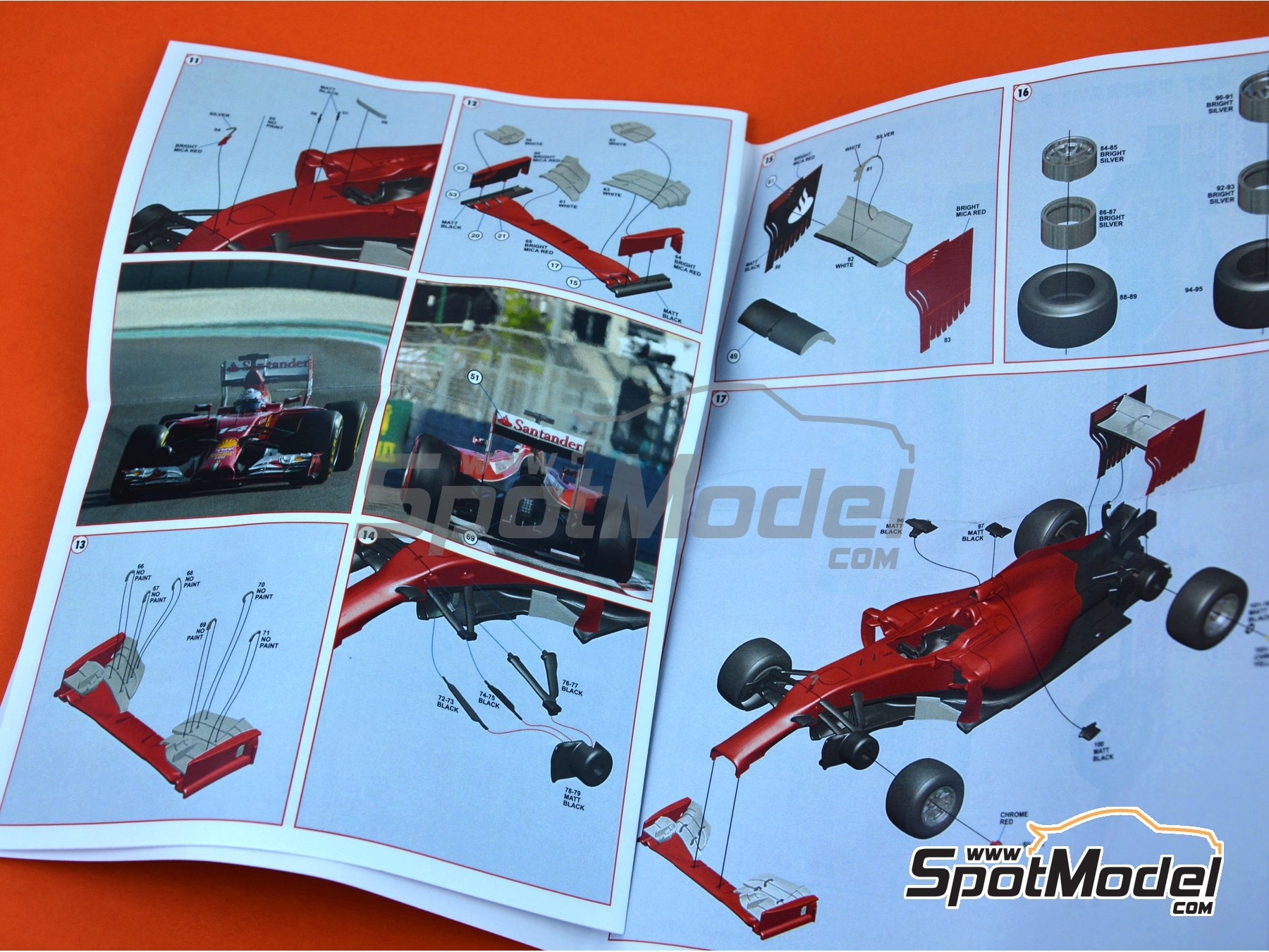 Image 10: Ferrari F14 Banco Santander - Abu Dhabi Grand Prix 2014 | Model car kit in 1/43 scale manufactured by Tameo Kits (ref.TMK427)