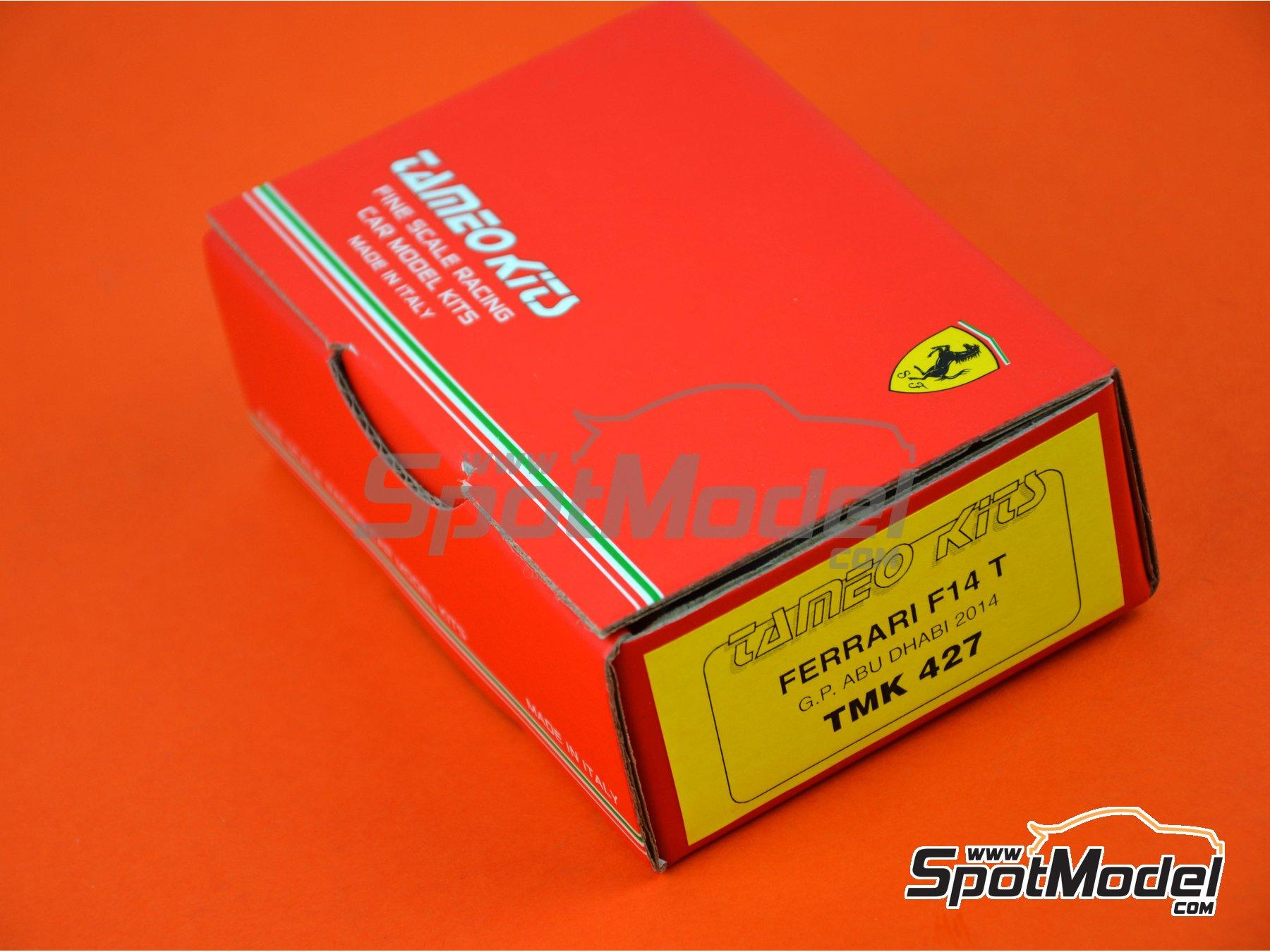 Image 12: Ferrari F14 - Gran Premio de Abu Dhabi 2014 | Maqueta de coche en escala1/43 fabricado por Tameo Kits (ref.TMK427)