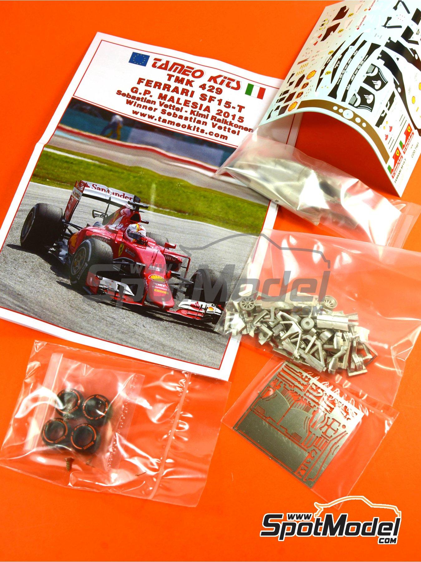 Ferrari SF15-T Shell UPS - Gran Premio de Fórmula 1 de Malasia 2015   Maqueta de coche en escala1/43 fabricado por Tameo Kits (ref.TMK429) image