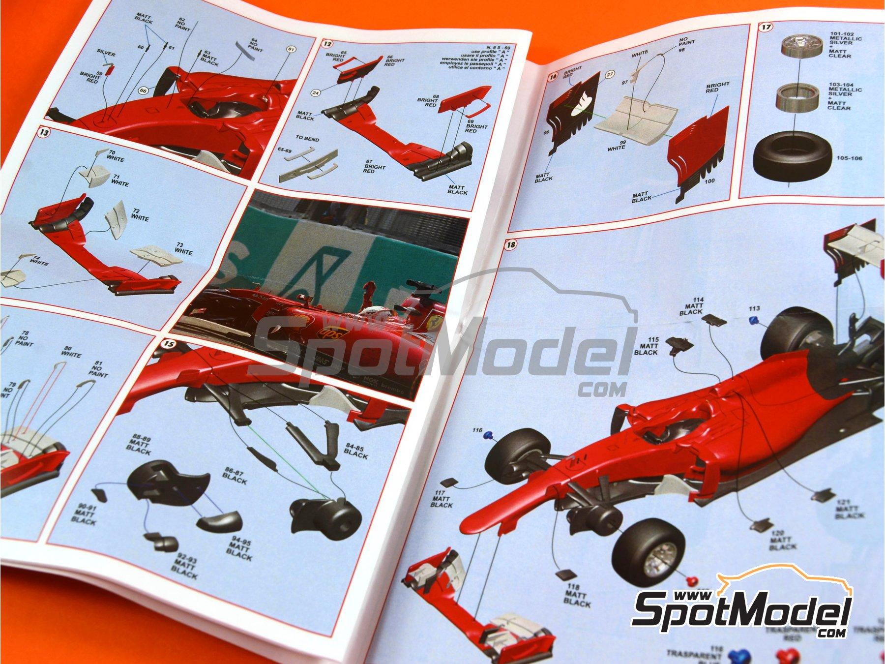 Image 10: Ferrari SF15-T Shell UPS - Gran Premio de Fórmula 1 de Malasia 2015   Maqueta de coche en escala1/43 fabricado por Tameo Kits (ref.TMK429)
