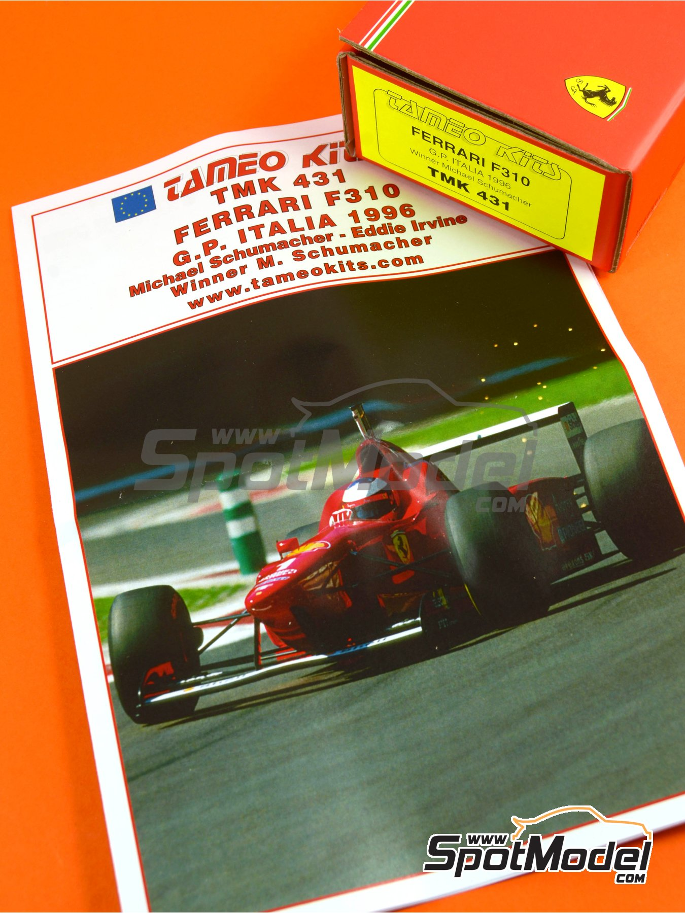 Ferrari F310 - Italian Grand Prix 1996 | Model car kit in 1/43 scale manufactured by Tameo Kits (ref. TMK431) image