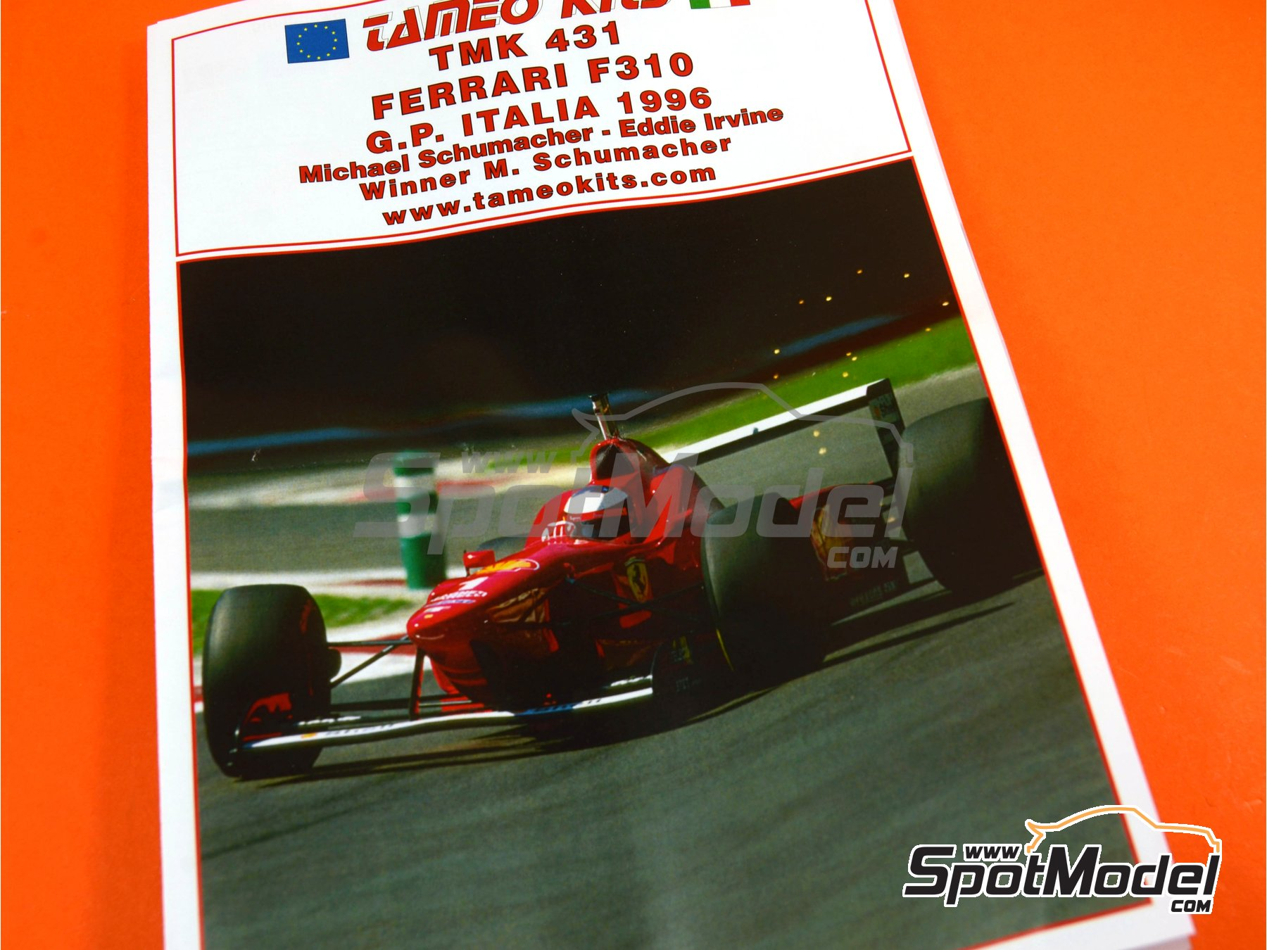 Image 8: Ferrari F310 - Italian Grand Prix 1996 | Model car kit in 1/43 scale manufactured by Tameo Kits (ref. TMK431)