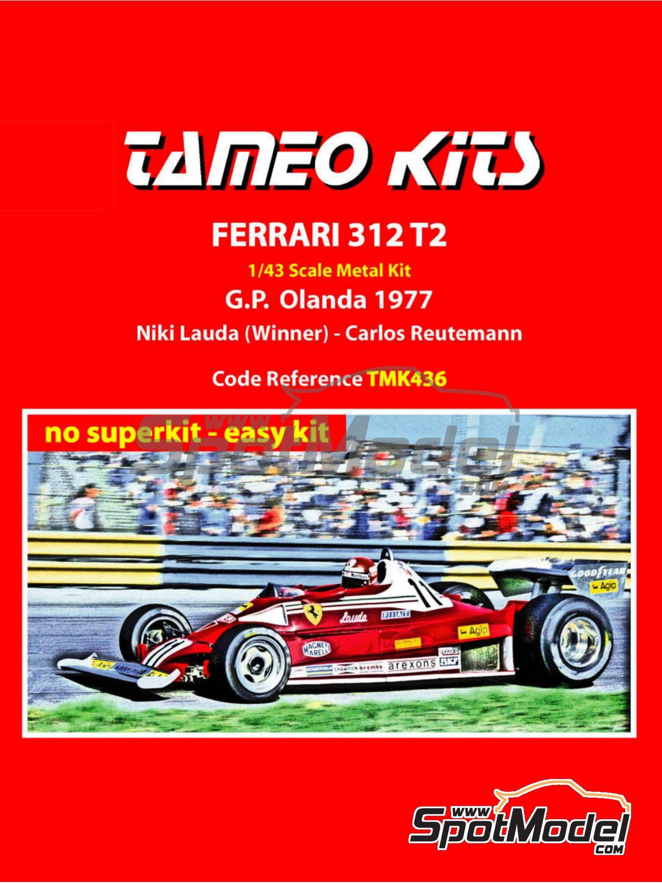 Ferrari 312 T2 Agip - Dutch Formula 1 Grand Prix 1977 | Model car kit in 1/43 scale manufactured by Tameo Kits (ref.TMK436) image