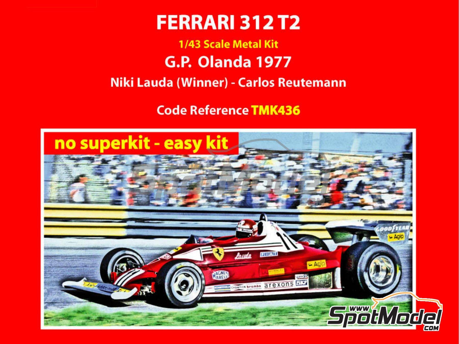 Image 1: Ferrari 312 T2 Agip - Dutch Formula 1 Grand Prix 1977 | Model car kit in 1/43 scale manufactured by Tameo Kits (ref.TMK436)