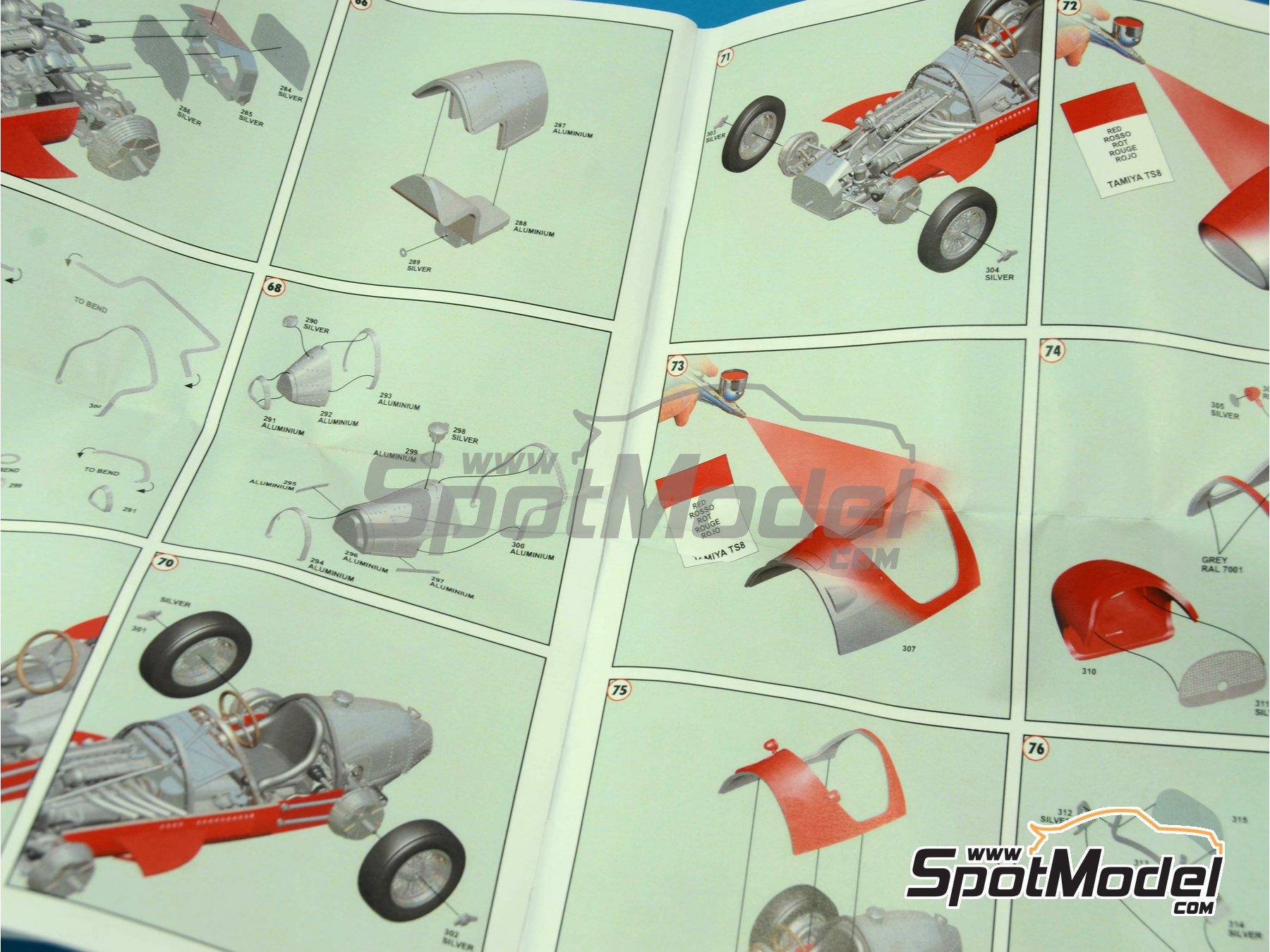 Image 5: Ferrari 500 F2 - Gran Premio de Fórmula 1 de Italia 1952 | Maqueta de coche en escala1/43 fabricado por Tameo Kits (ref.WCT052)