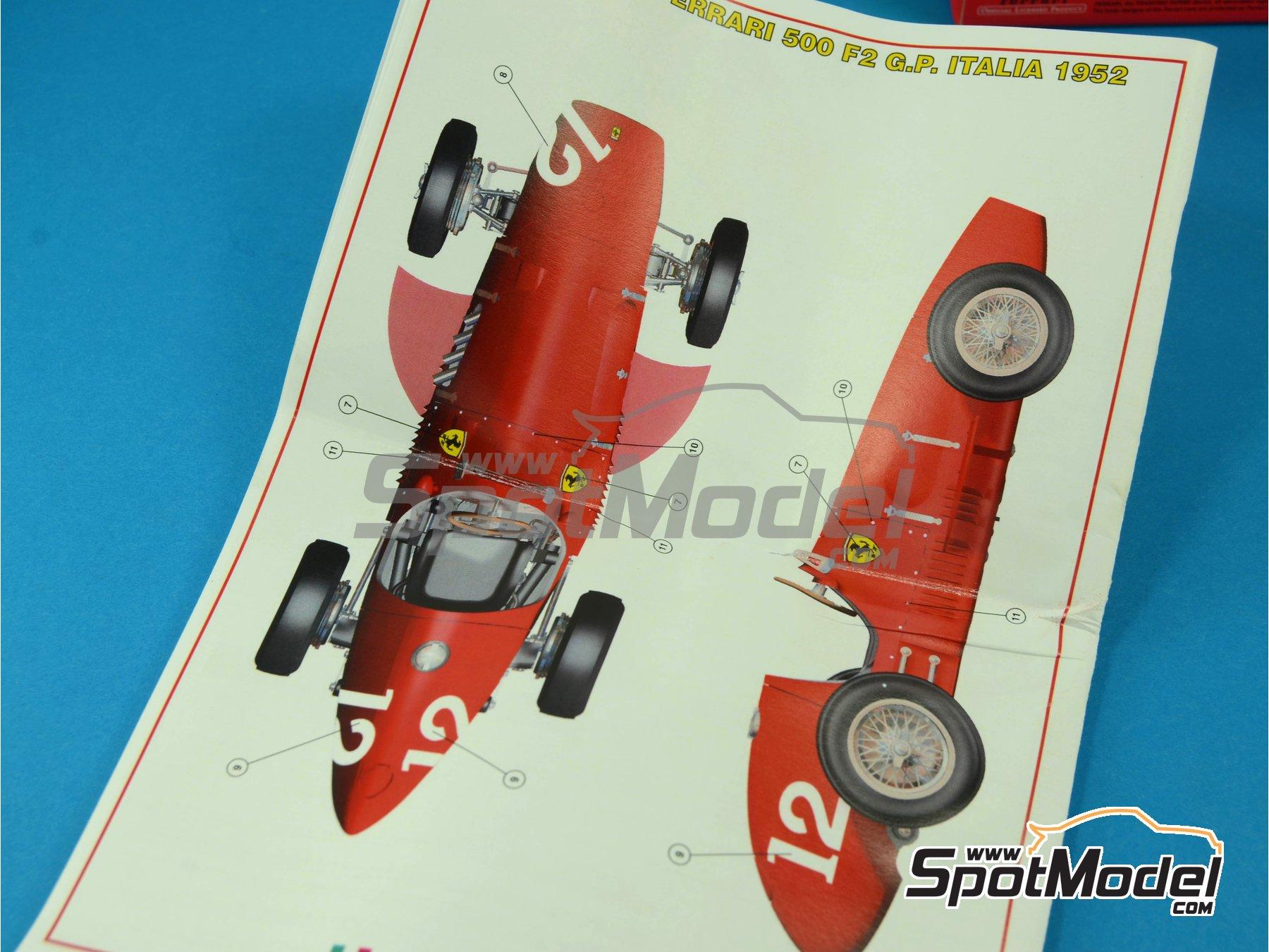 Image 6: Ferrari 500 F2 - Gran Premio de Fórmula 1 de Italia 1952 | Maqueta de coche en escala1/43 fabricado por Tameo Kits (ref.WCT052)