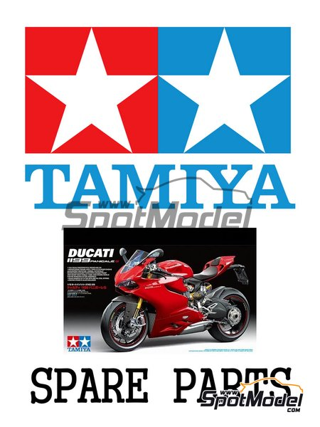 Ducati 1199 Panigale S: D parts | Spare part in 1/12 scale manufactured by Tamiya (ref.19000666) image