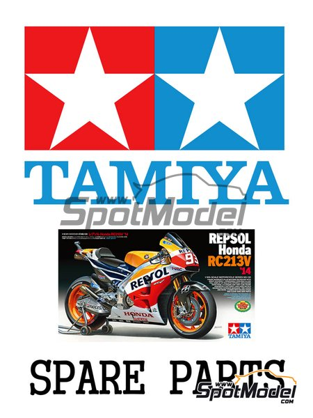 Honda RC213V: C and D parts | Spare part in 1/12 scale manufactured by Tamiya (ref. 19000870) image