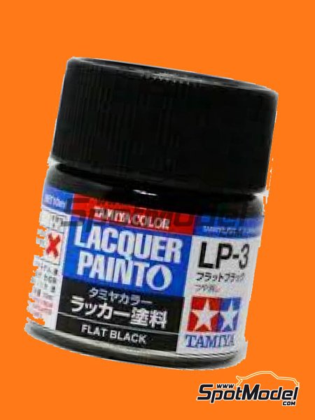 Flat black LP-3 | Lacquer paint manufactured by Tamiya (ref. TAM82103) image