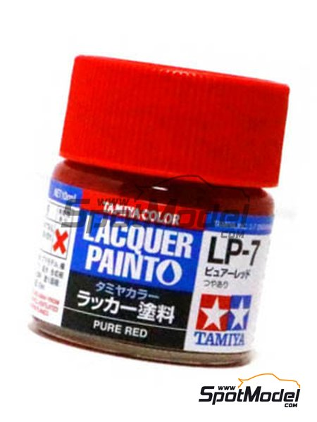Pure red LP-7 - 1 x 10ml | Lacquer paint manufactured by Tamiya (ref. TAM82107) image