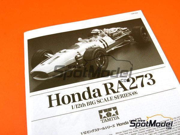 Image 16: Honda RA273 - Campeonato del Mundo de Formula1 1967 | Maqueta de coche en escala1/12 fabricado por Tamiya (ref.TAM12032, tambien 12032)