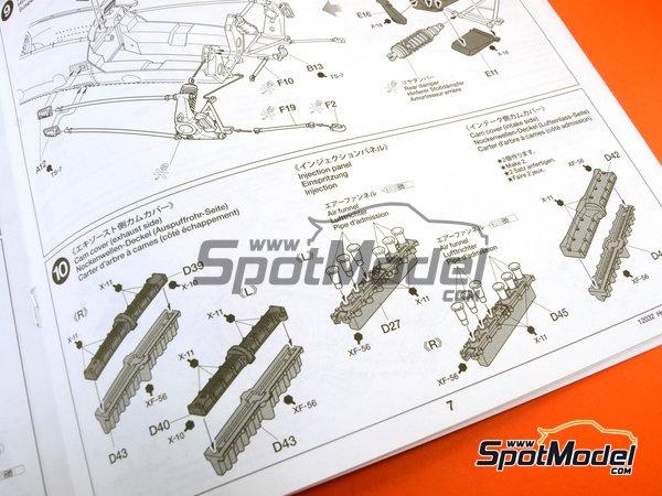Image 18: Honda RA273 - Campeonato del Mundo de Formula1 1967 | Maqueta de coche en escala1/12 fabricado por Tamiya (ref.TAM12032, tambien 12032)