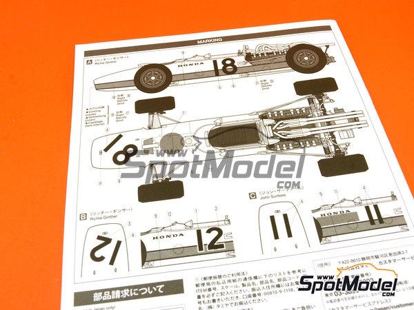 Image 22: Honda RA273 - Campeonato del Mundo de Formula1 1967 | Maqueta de coche en escala1/12 fabricado por Tamiya (ref.TAM12032, tambien 12032)