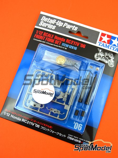 Honda RC211V -  2006 | Front fork set in 1/12 scale manufactured by Tamiya (ref. TAM12618) image