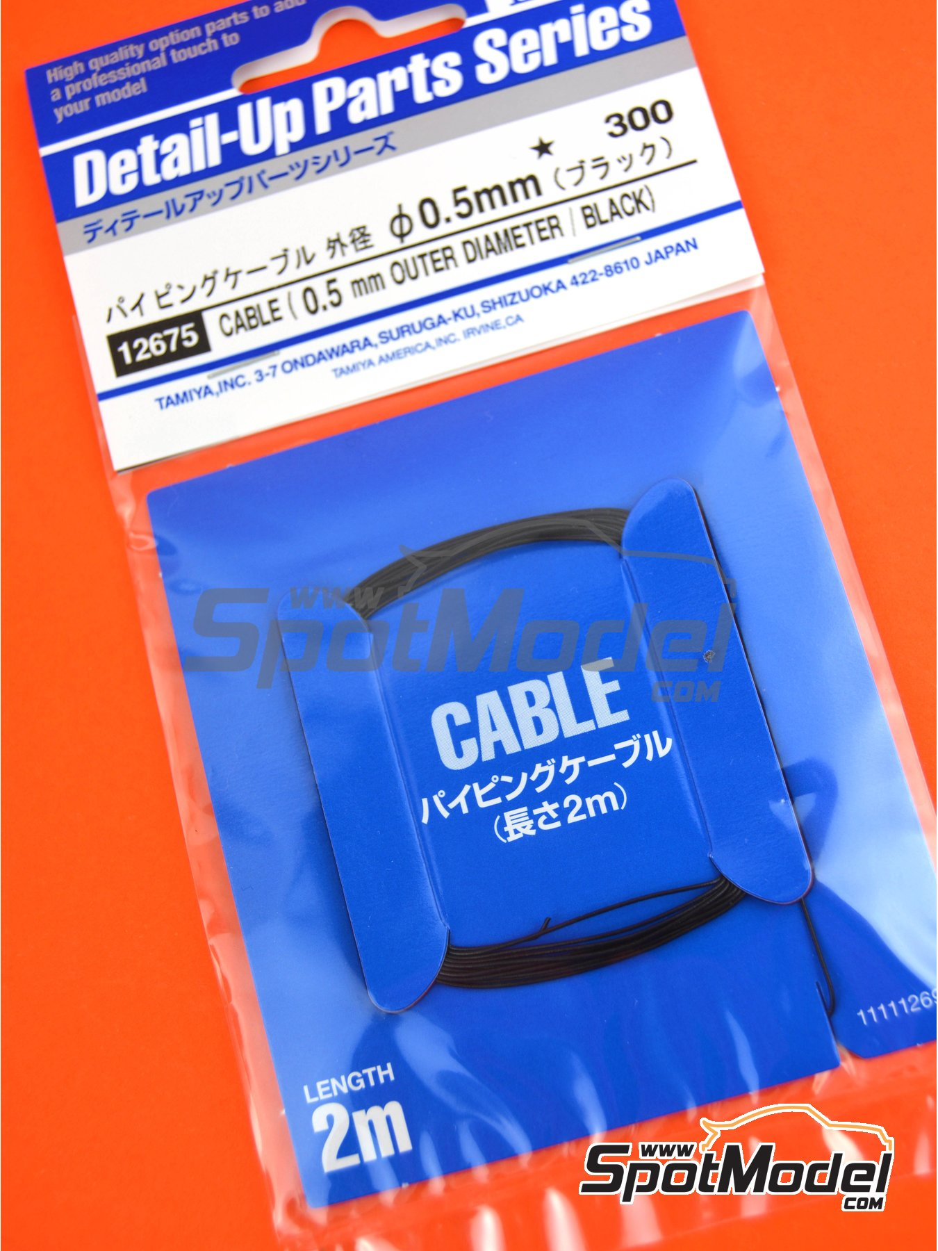Black wire 0.5mm | Piping cord manufactured by Tamiya (ref. TAM12675) image
