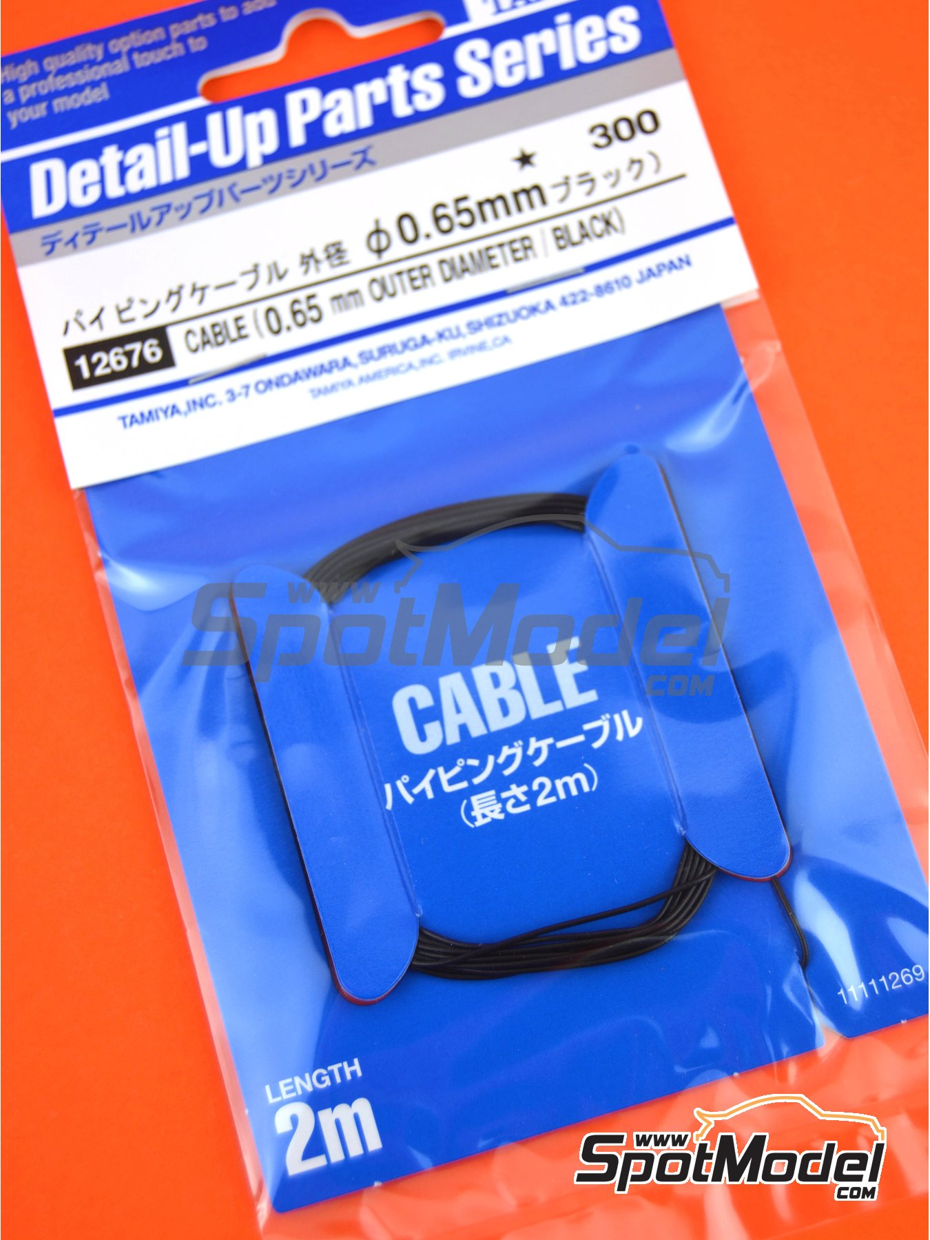 Black wire 0.65mm | Piping cord manufactured by Tamiya (ref. TAM12676) image