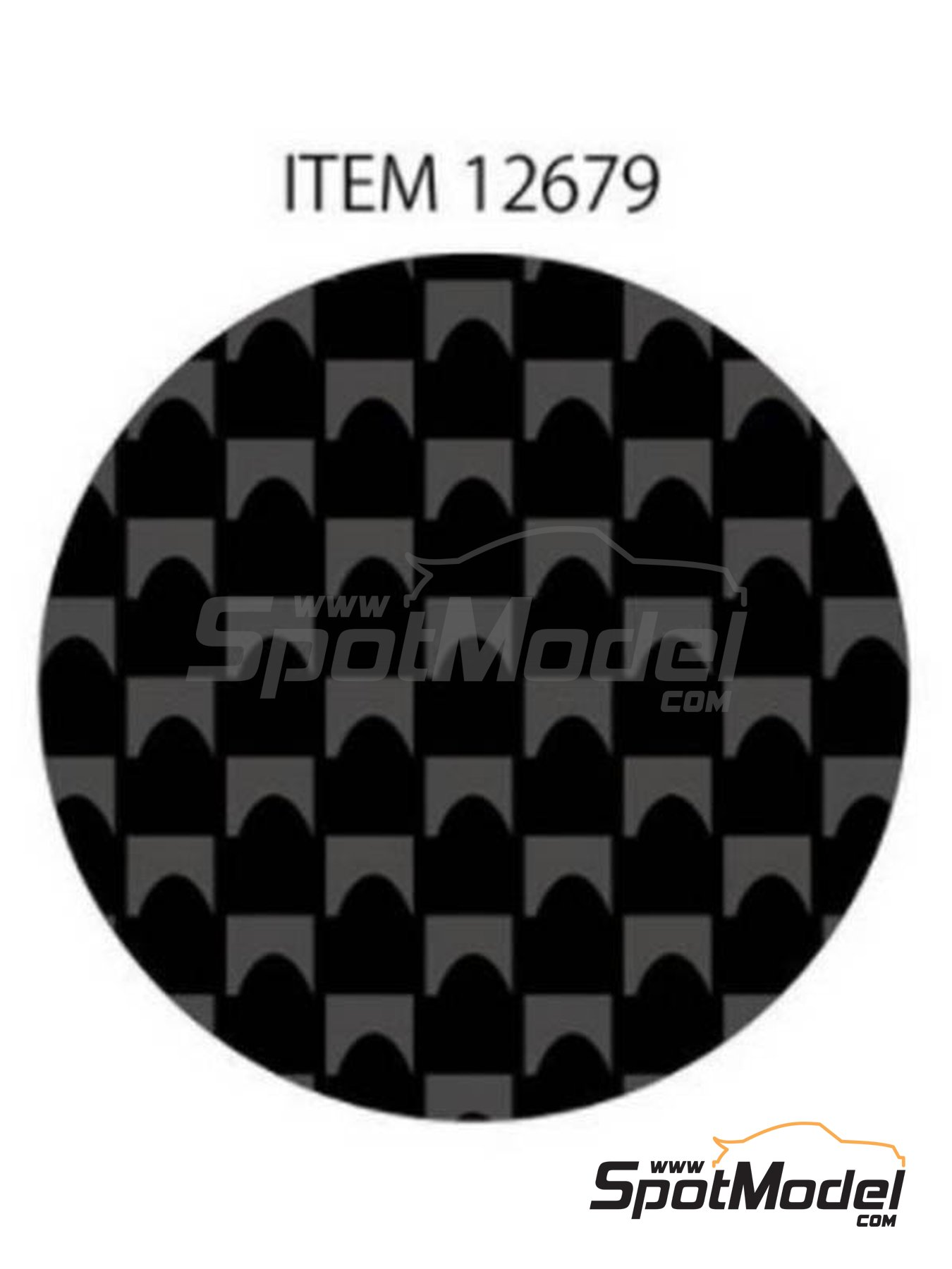 Plain weave fine carbon pattern | Decals manufactured by Tamiya (ref. TAM12679) image