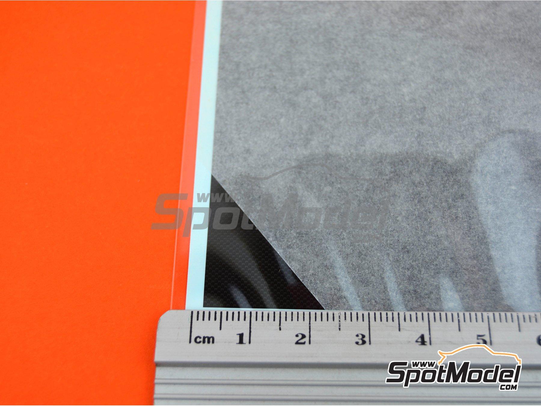 Image 1: Plain weave fine carbon pattern | Decals manufactured by Tamiya (ref.TAM12679)