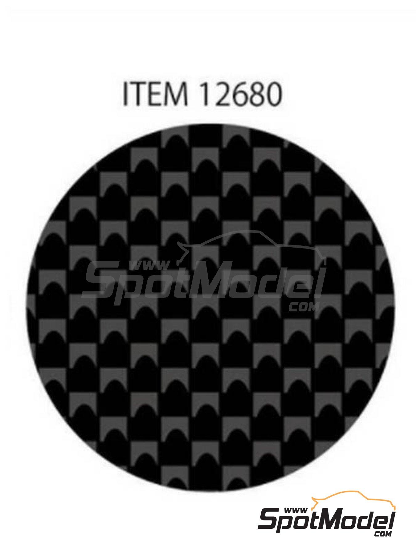 Fibra de carbono con trama rectangular muy fina | Calcas de agua fabricado por Tamiya (ref.TAM12680) image