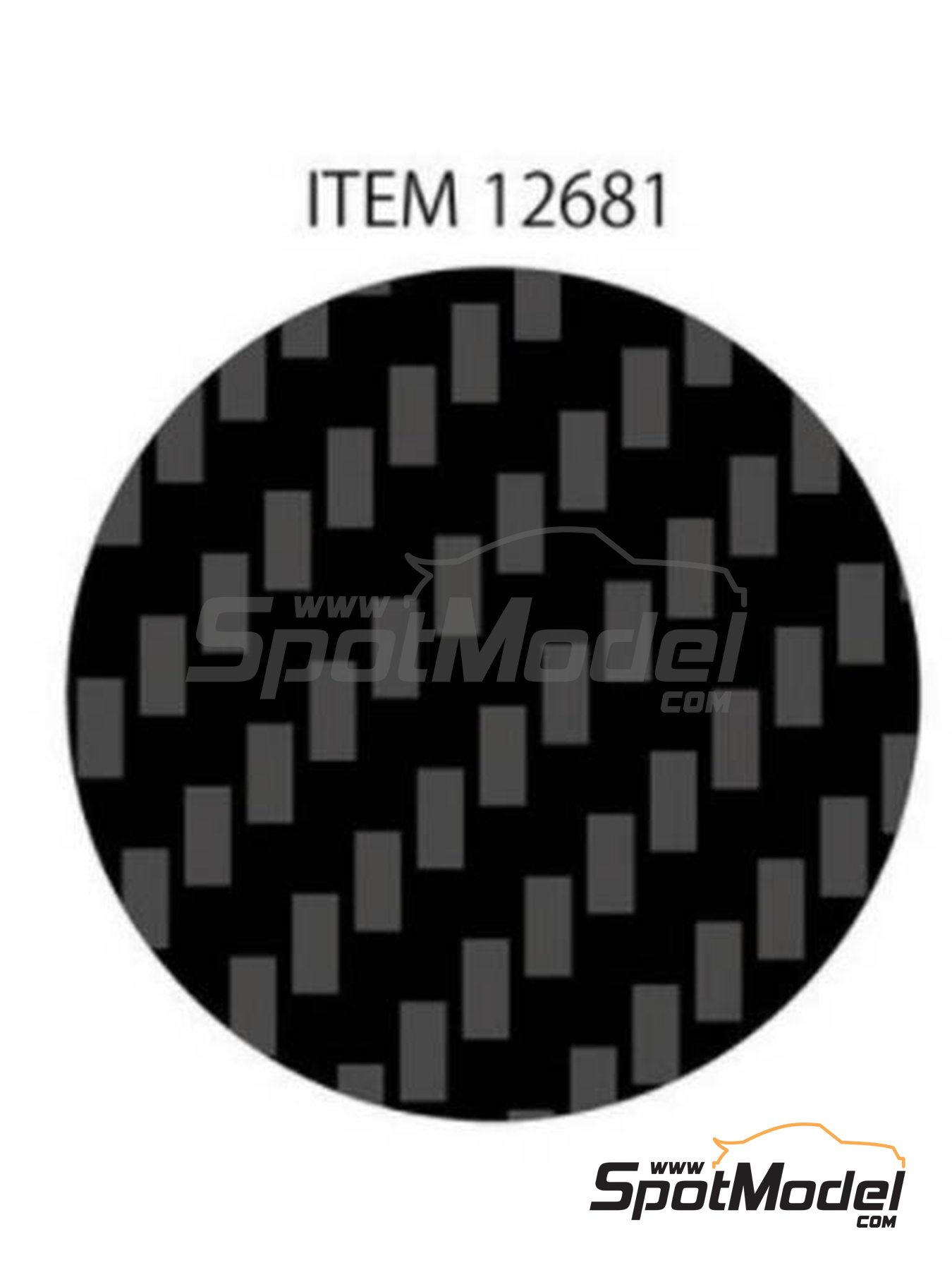 Till weave fine carbon pattern | Decals manufactured by Tamiya (ref. TAM12681) image