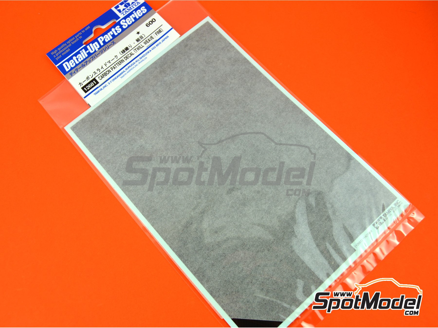 Image 3: Till weave fine carbon pattern | Decals manufactured by Tamiya (ref. TAM12681)