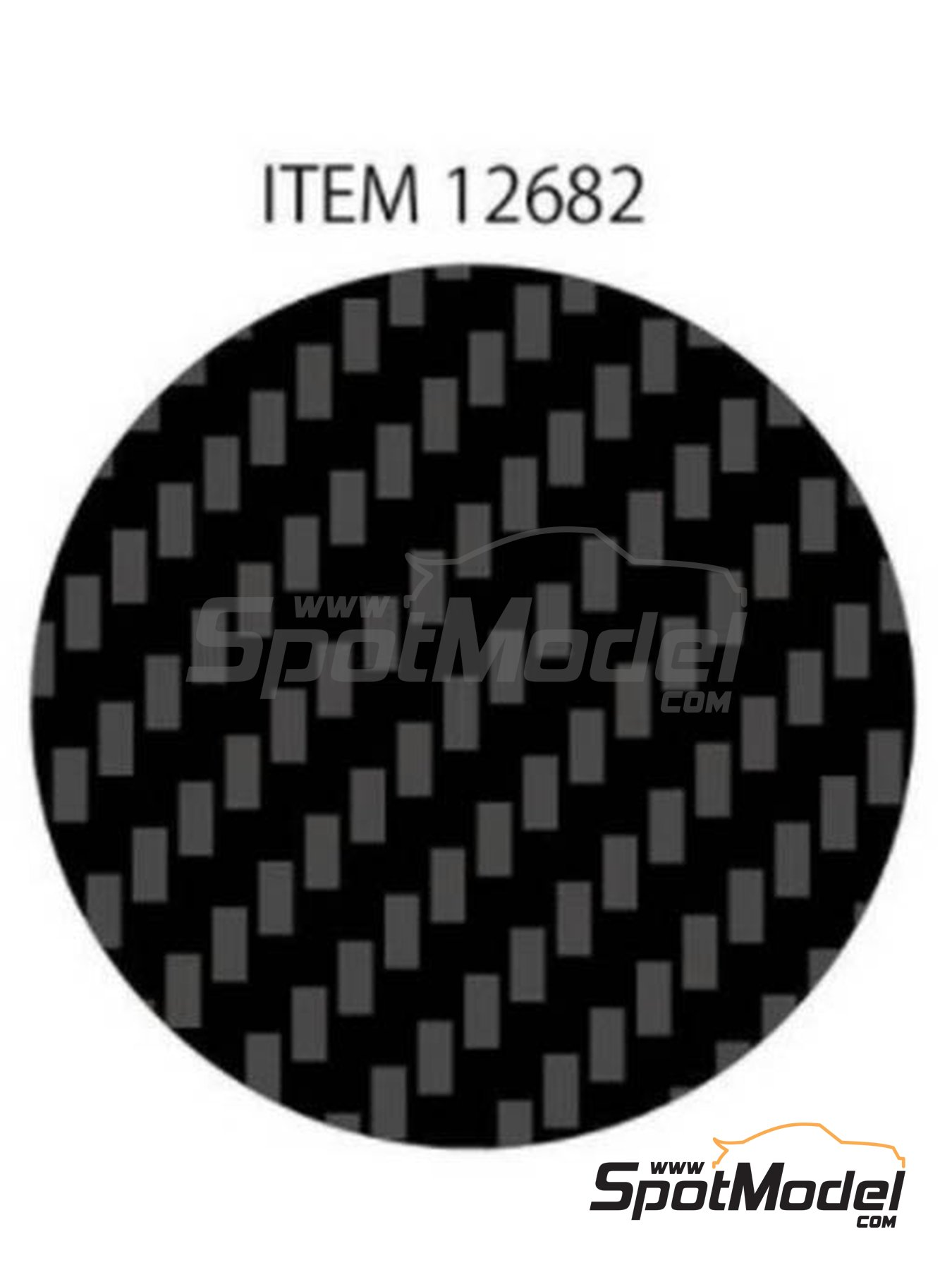 Twill weave extra fine carbon pattern | Decals manufactured by Tamiya (ref. TAM12682) image