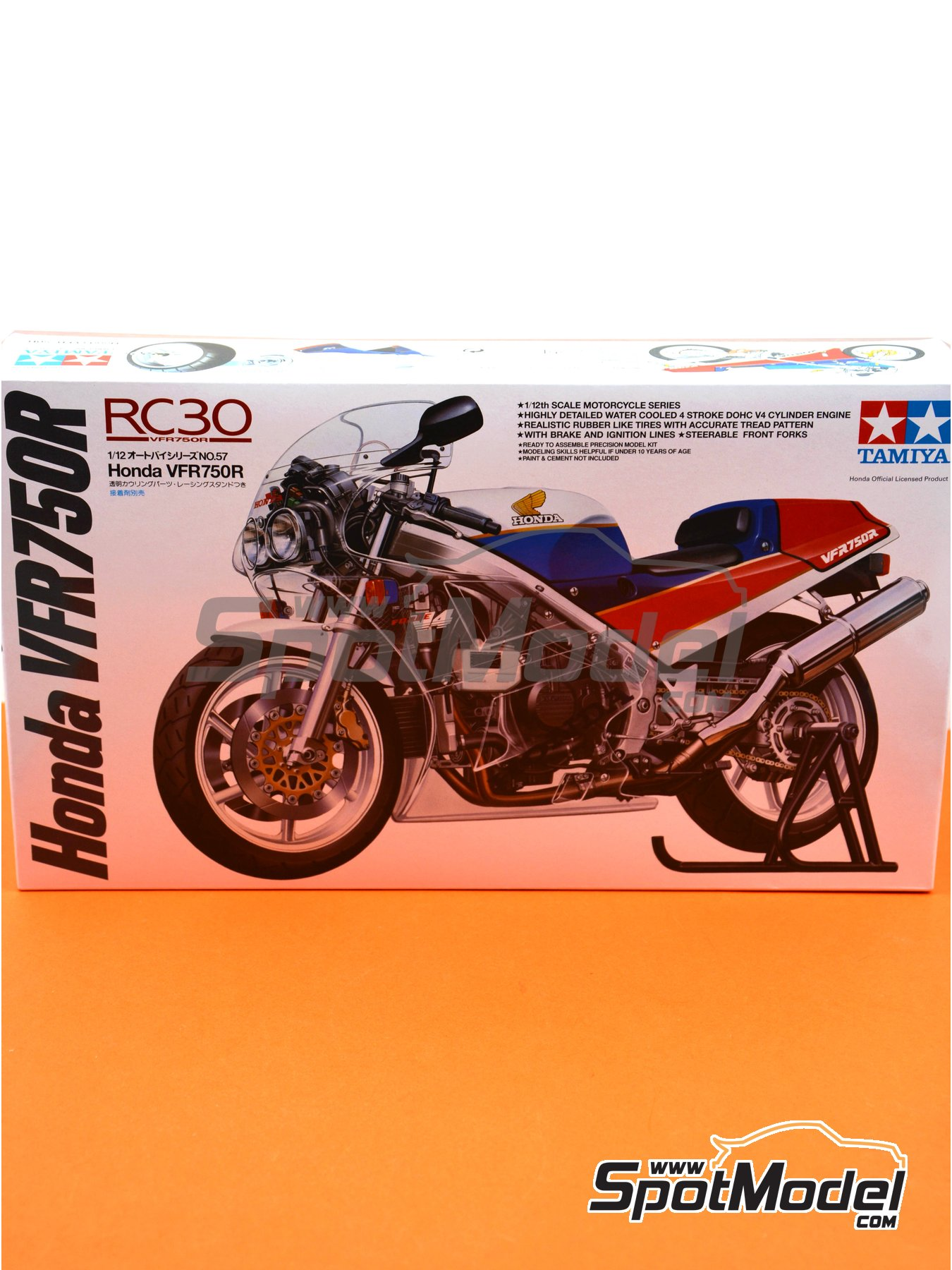 Honda VFR750R RC30 | Model bike kit in 1/12 scale manufactured by Tamiya (ref. TAM14057) image