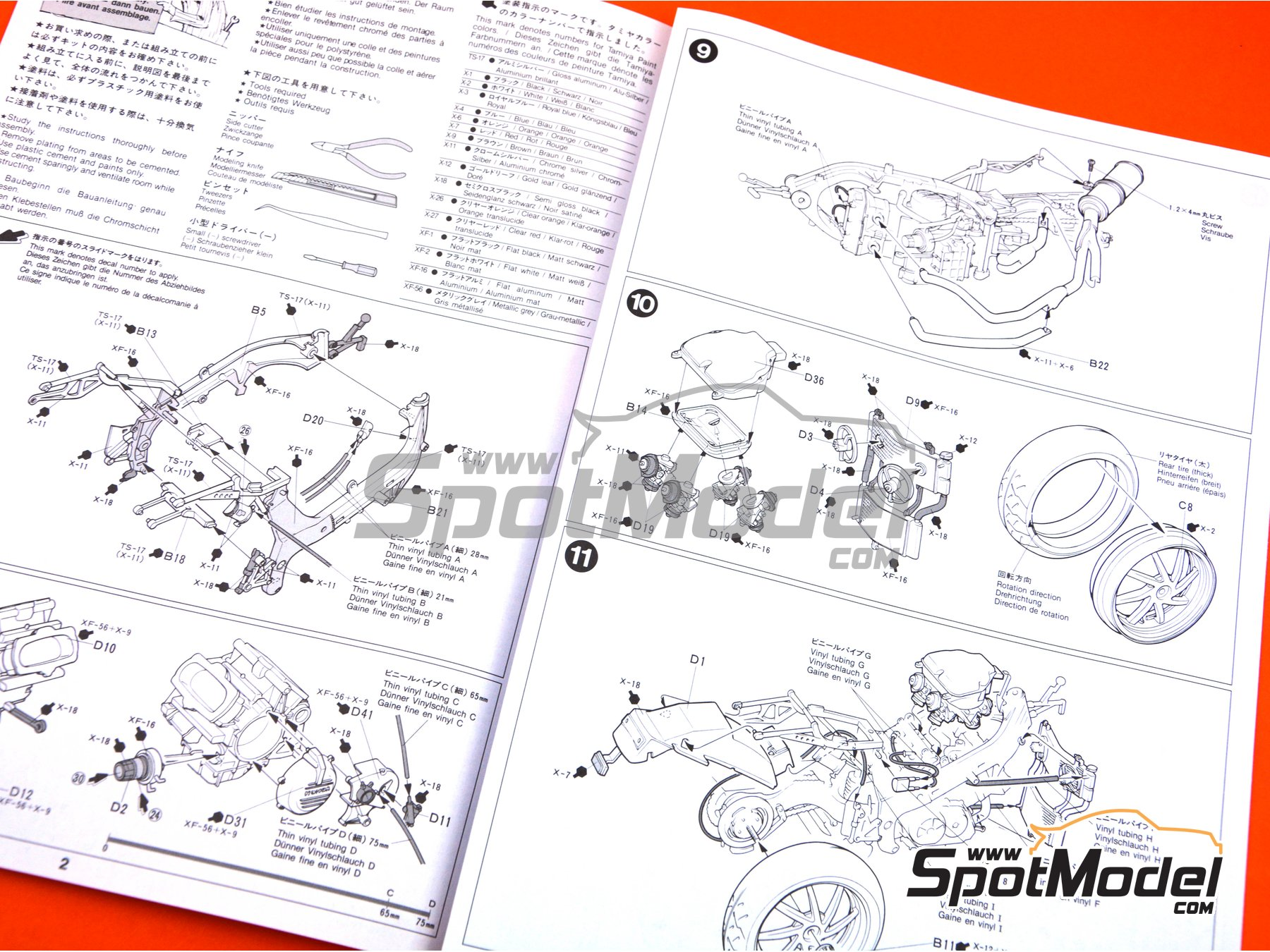 Image 9: Honda VFR750R RC30 | Model bike kit in 1/12 scale manufactured by Tamiya (ref. TAM14057, also 14057)