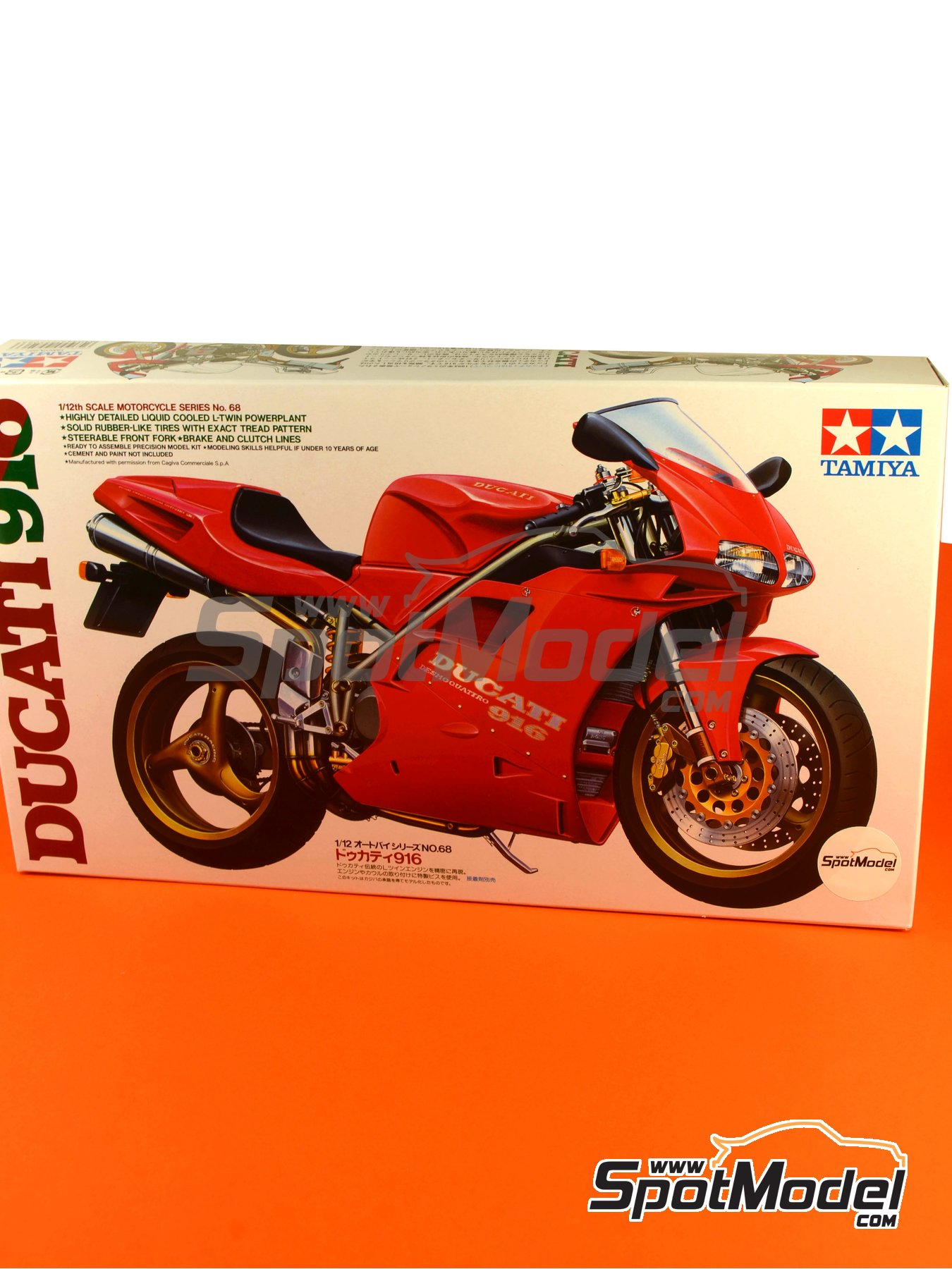 Ducati 916 | Model bike kit in 1/12 scale manufactured by Tamiya (ref.TAM14068, also 14068) image
