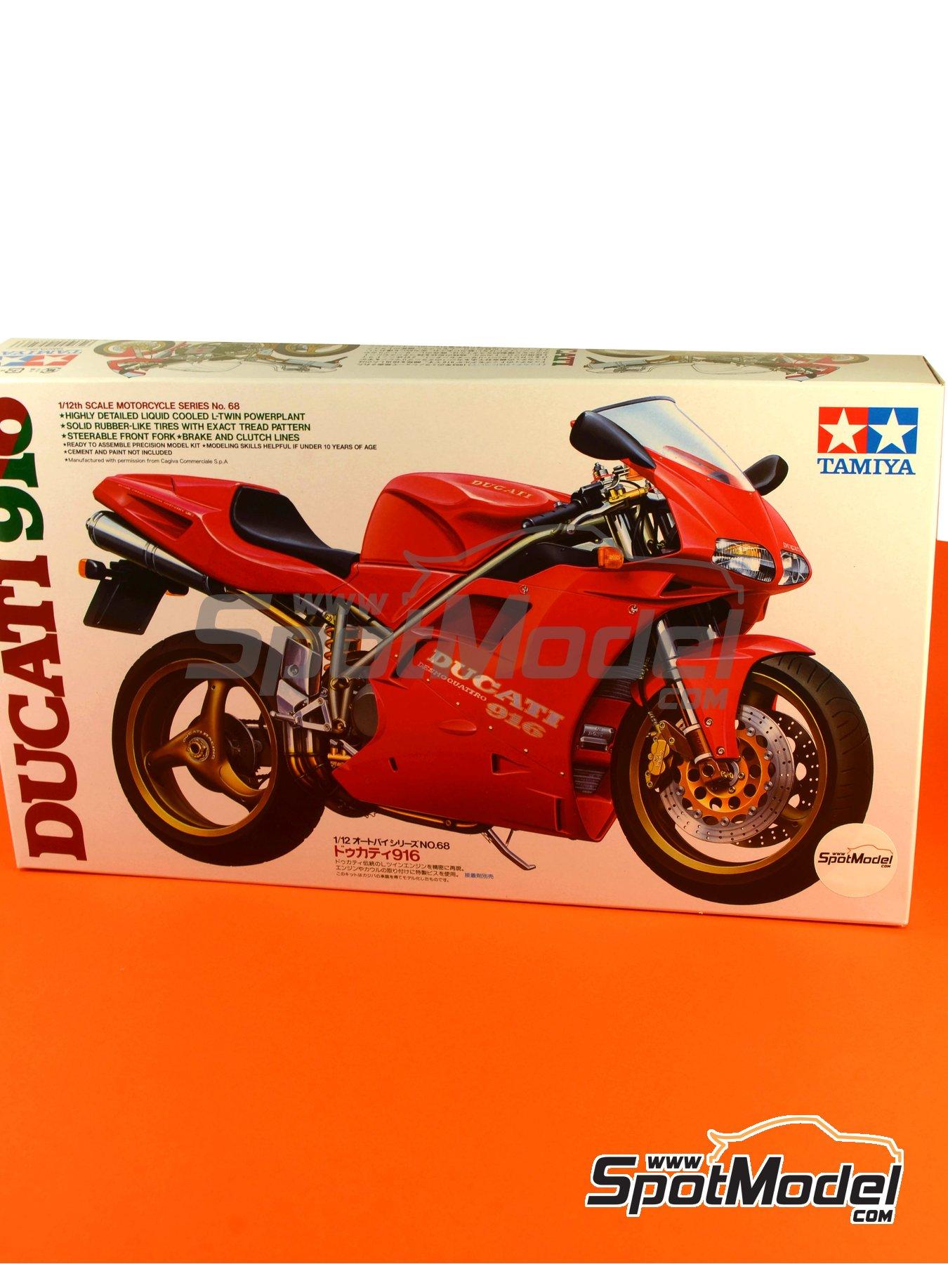 Ducati 916 | Maqueta de moto en escala1/12 fabricado por Tamiya (ref.TAM14068, tambien 14068) image
