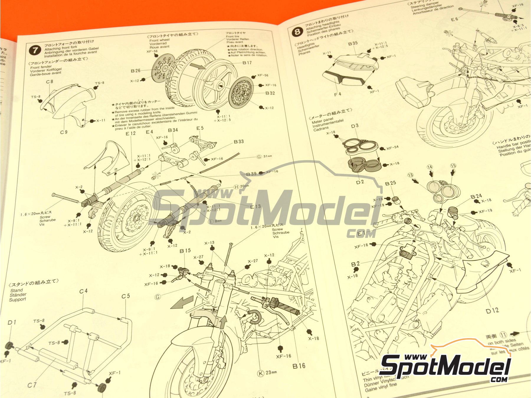 Image 8: Ducati 916 | Model bike kit in 1/12 scale manufactured by Tamiya (ref.TAM14068, also 14068)