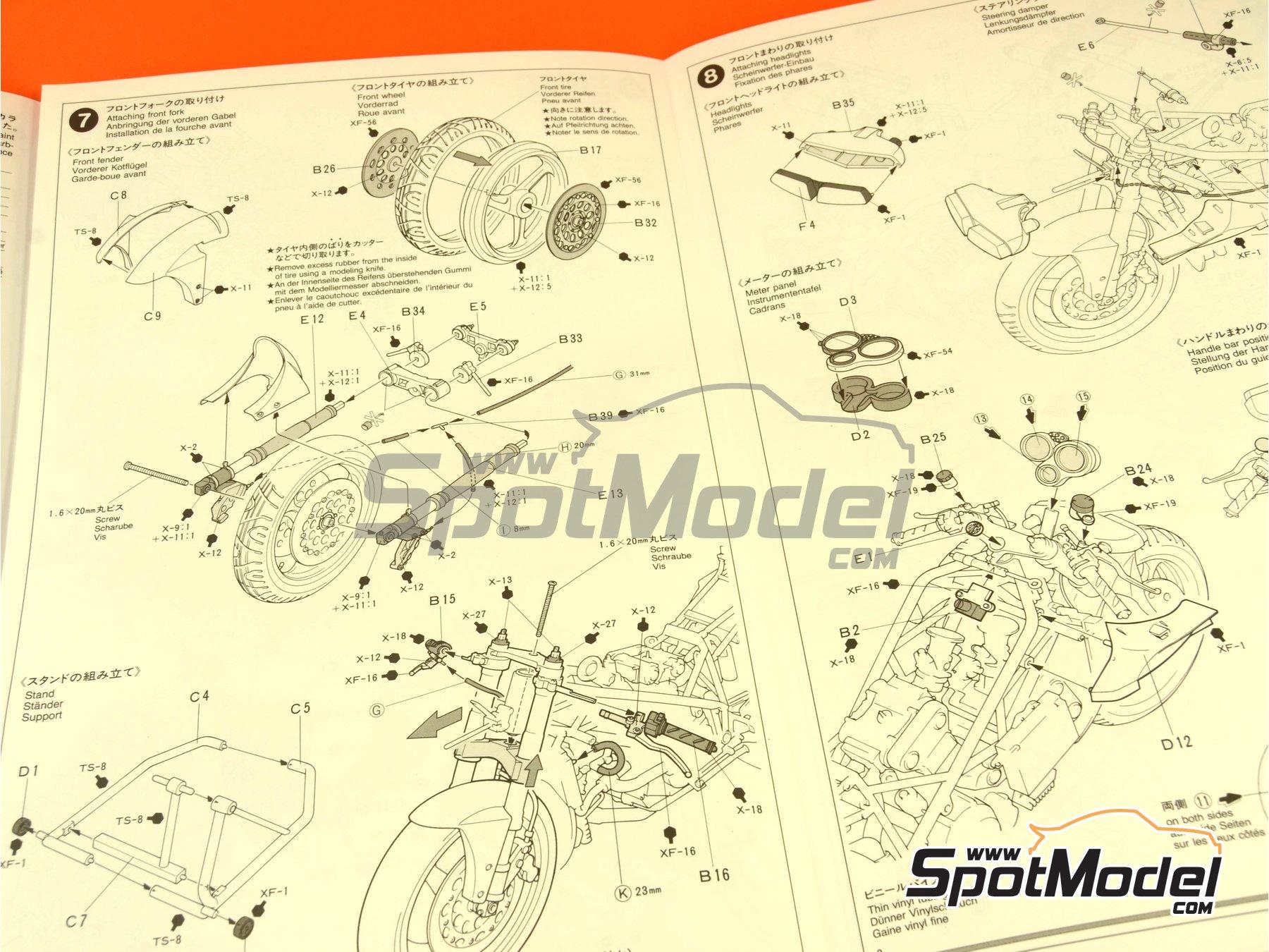 Image 8: Ducati 916 | Maqueta de moto en escala1/12 fabricado por Tamiya (ref.TAM14068, tambien 14068)