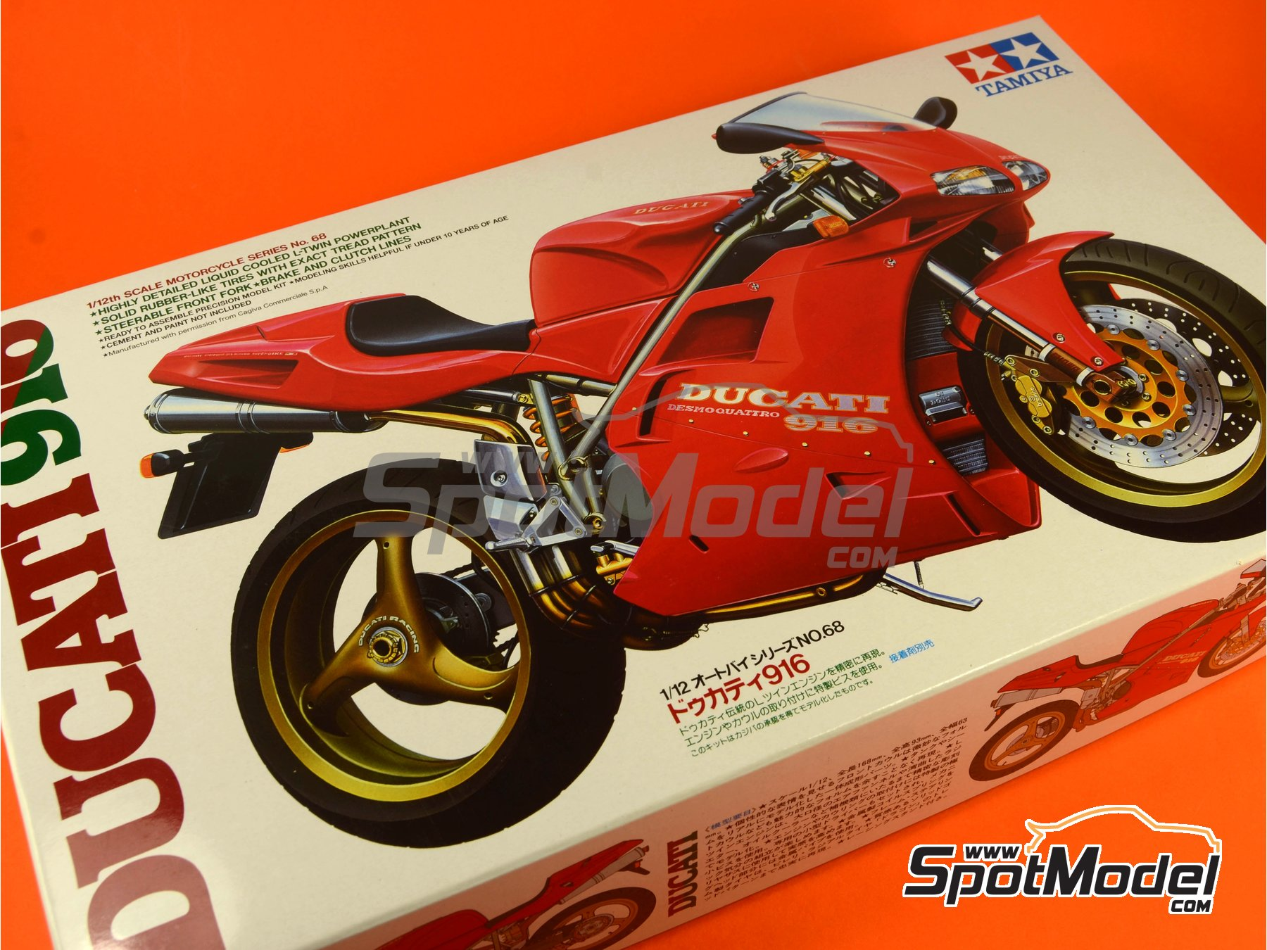Image 11: Ducati 916 | Model bike kit in 1/12 scale manufactured by Tamiya (ref.TAM14068, also 14068)