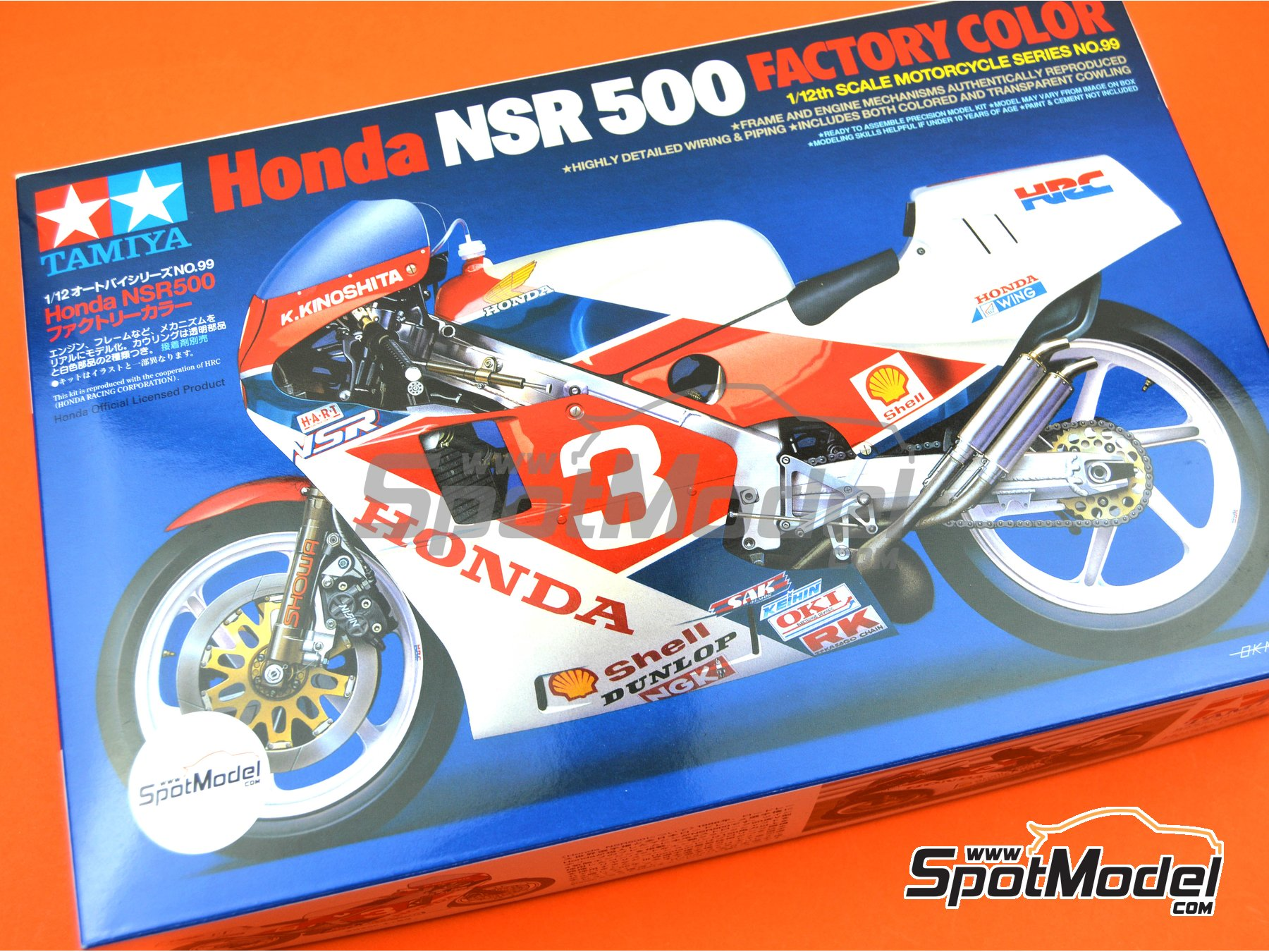 Image 8: Honda NSR500 Honda Racing Corporation | Model bike kit in 1/12 scale manufactured by Tamiya (ref. TAM14099, also 14099)