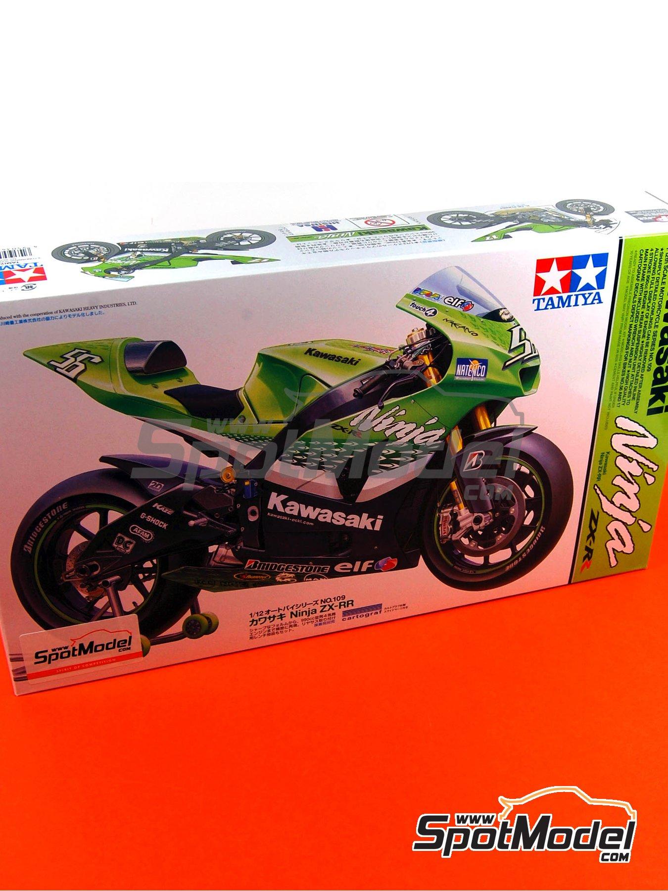 Kawasaki Ninja ZX-RR - Campeonato del Mundo de Motociclismo 2006   Maqueta de moto en escala1/12 fabricado por Tamiya (ref.TAM14109, tambien 14109) image