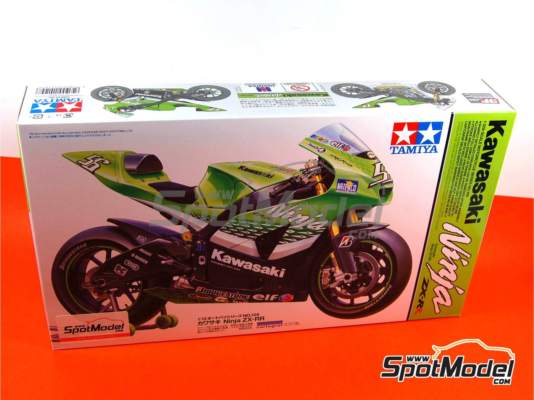 Image 1: Kawasaki Ninja ZX-RR - Campeonato del Mundo de Motociclismo 2006   Maqueta de moto en escala1/12 fabricado por Tamiya (ref.TAM14109, tambien 14109)