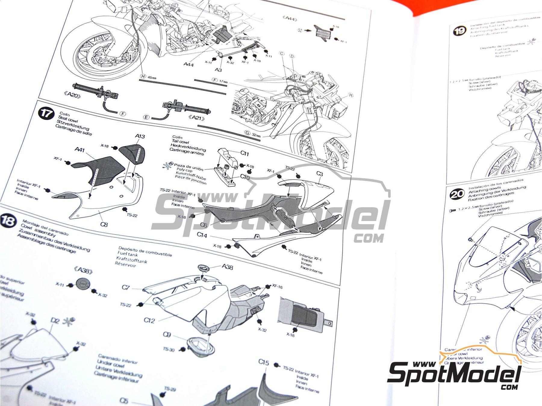 Image 3: Kawasaki Ninja ZX-RR - Campeonato del Mundo de Motociclismo 2006   Maqueta de moto en escala1/12 fabricado por Tamiya (ref.TAM14109, tambien 14109)